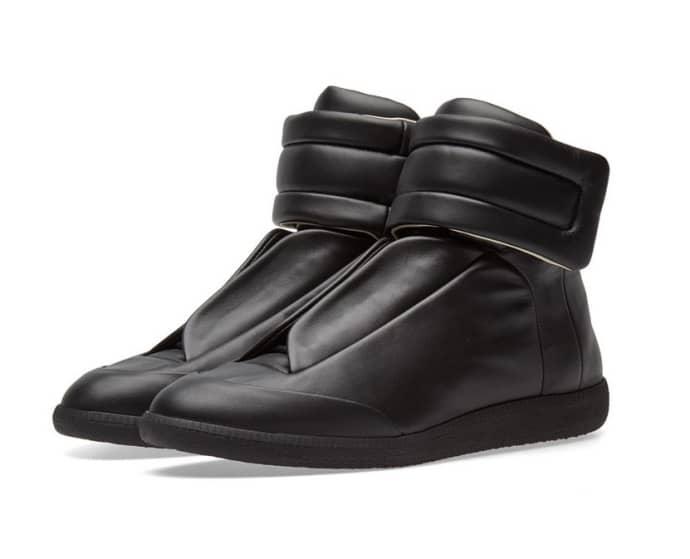 maison margiela black sneakers