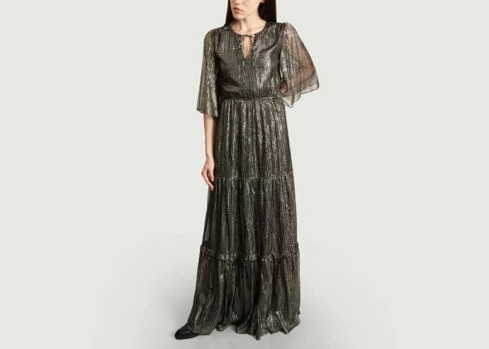 Trouva: Schwarzes langes Kleid
