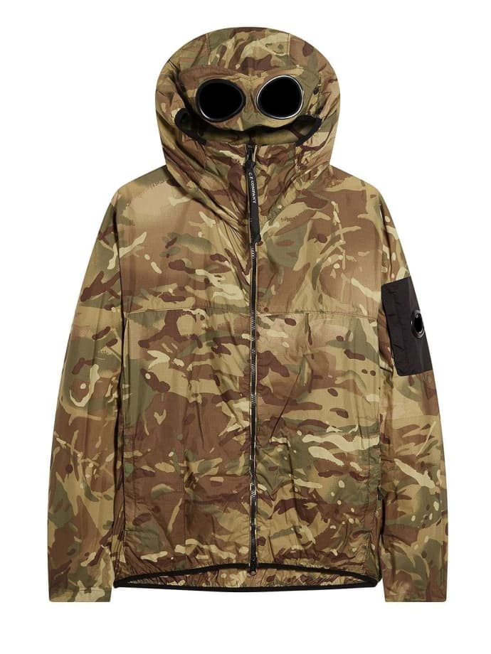 C.P SHELL RE-COLOUR GOGGLE HOOD JACKET IN TOTAL ECLIPSE