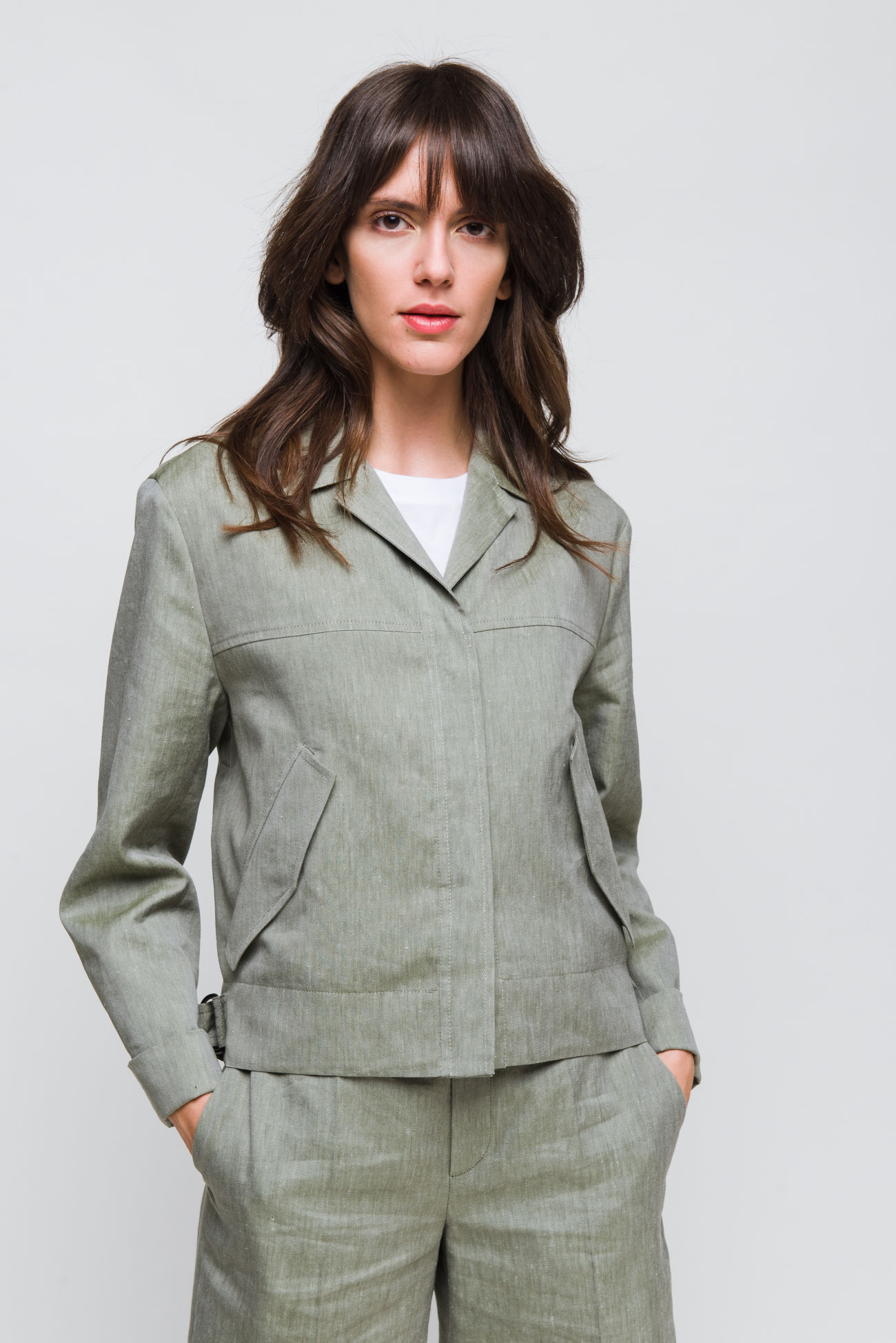 Jacket in linen mixture