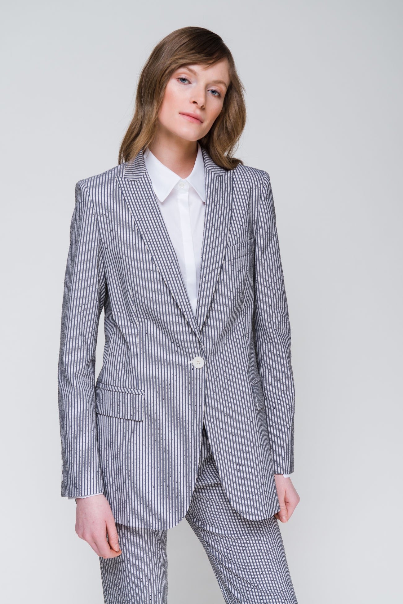 Frisé-pinstripe blazer