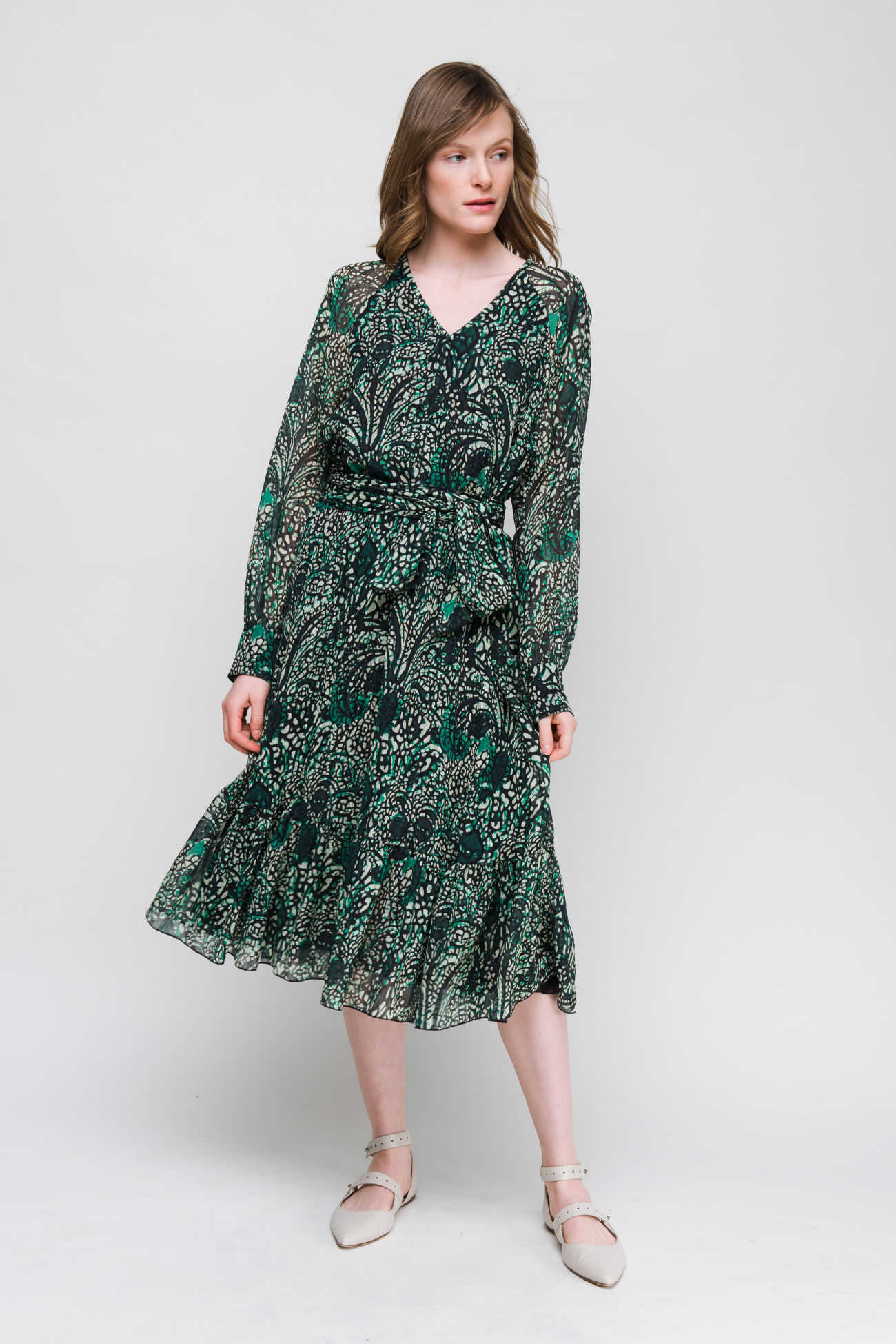 Midi Dress with Paisley