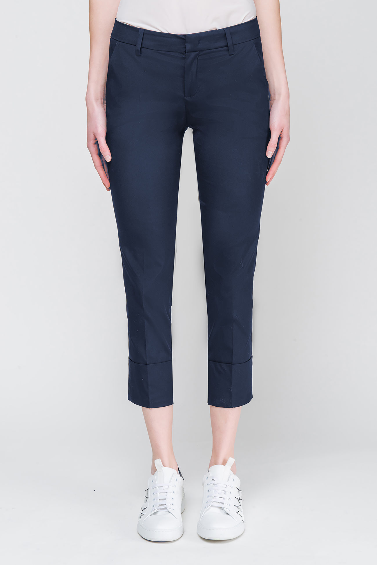 Pants in poplin-stretch