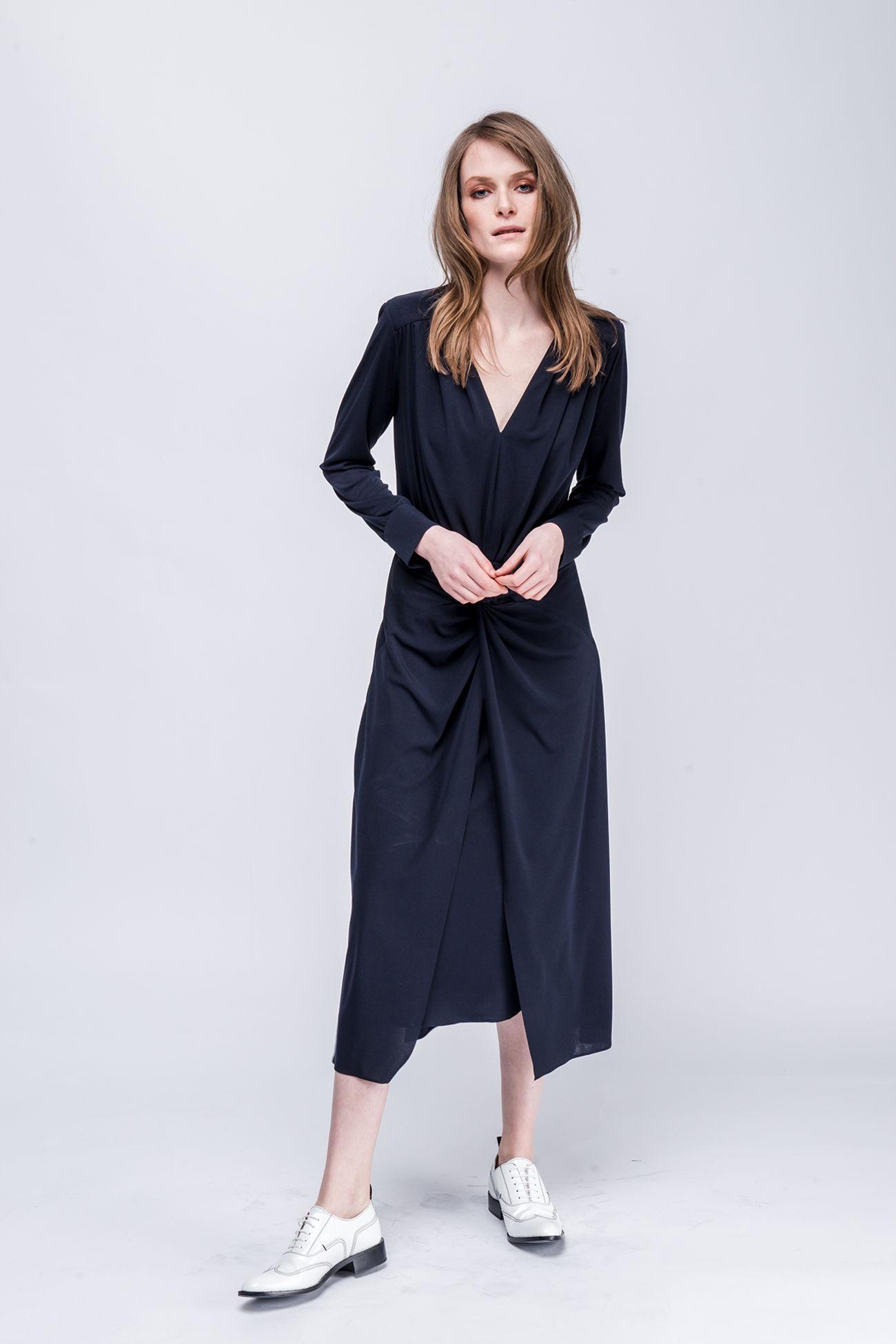 Kleid aus Crêpe-Jersey