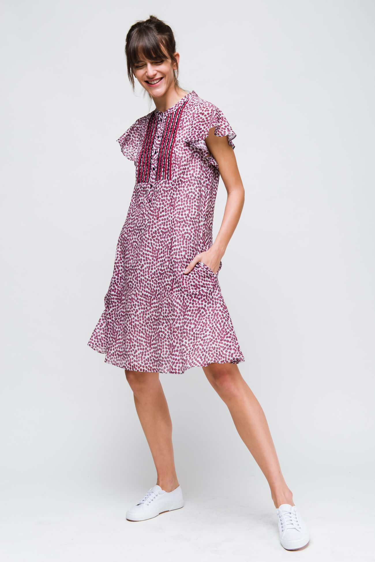 Dress in cotton-voile