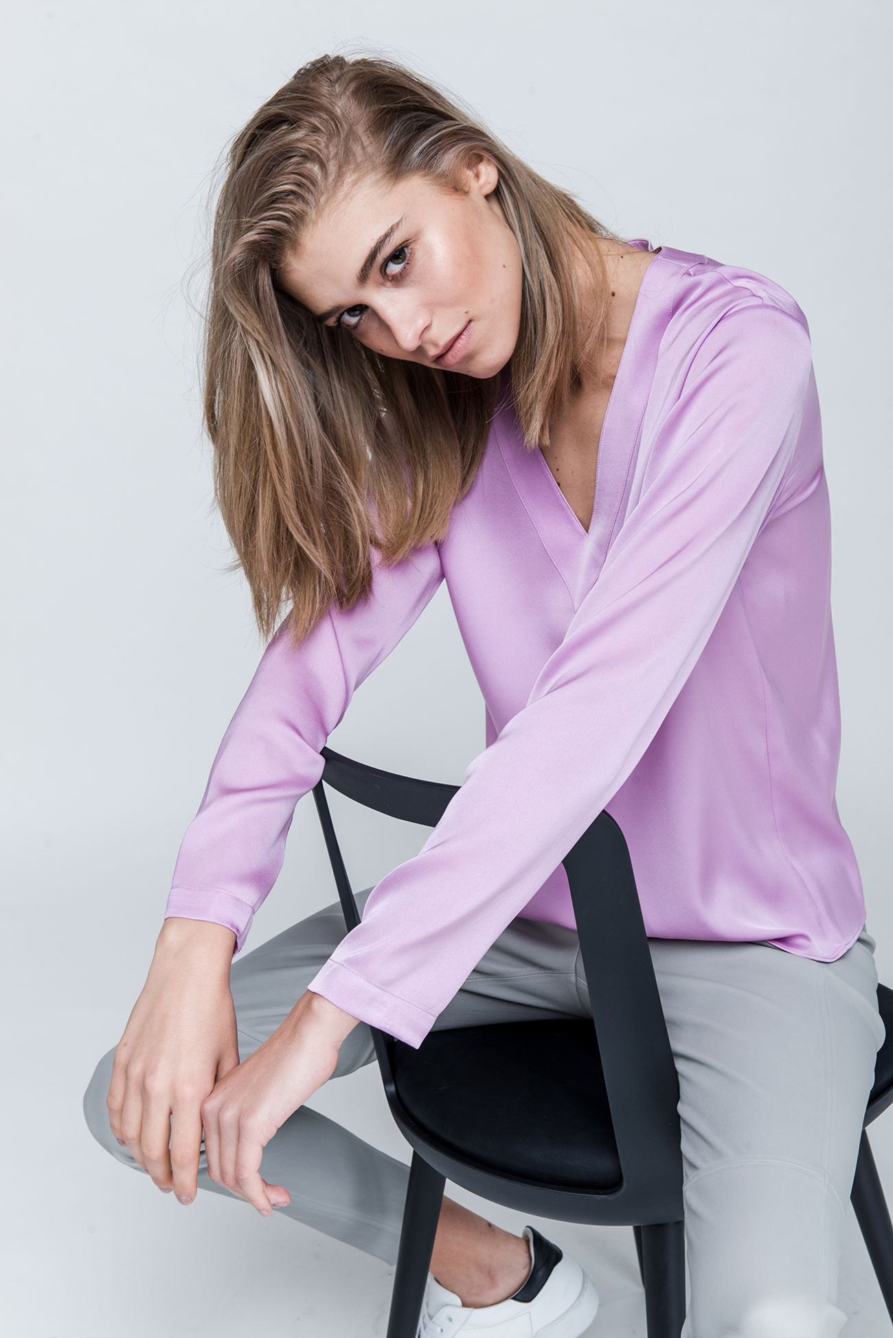 Silk stretch blouse