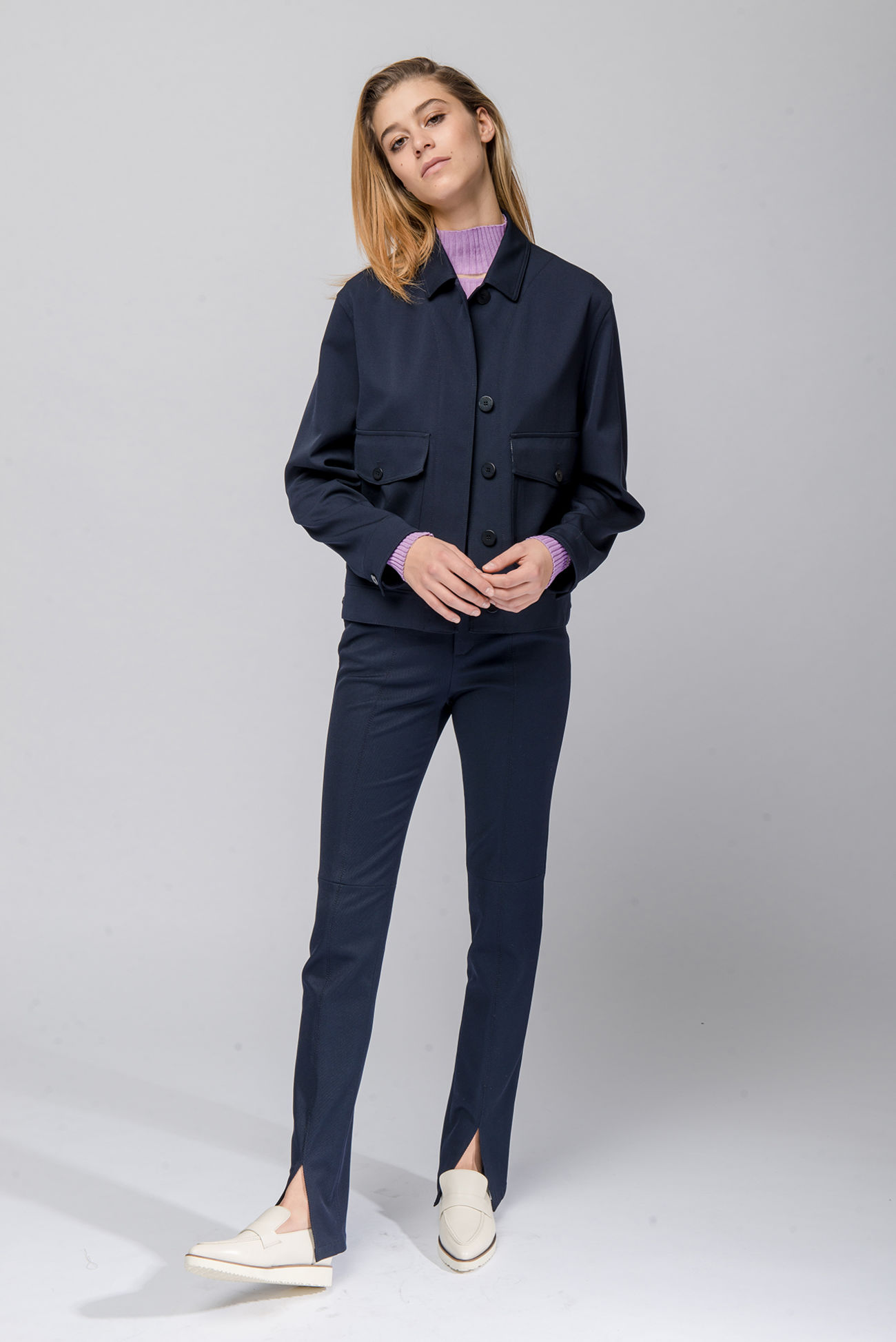 Trousers in cavalry twill