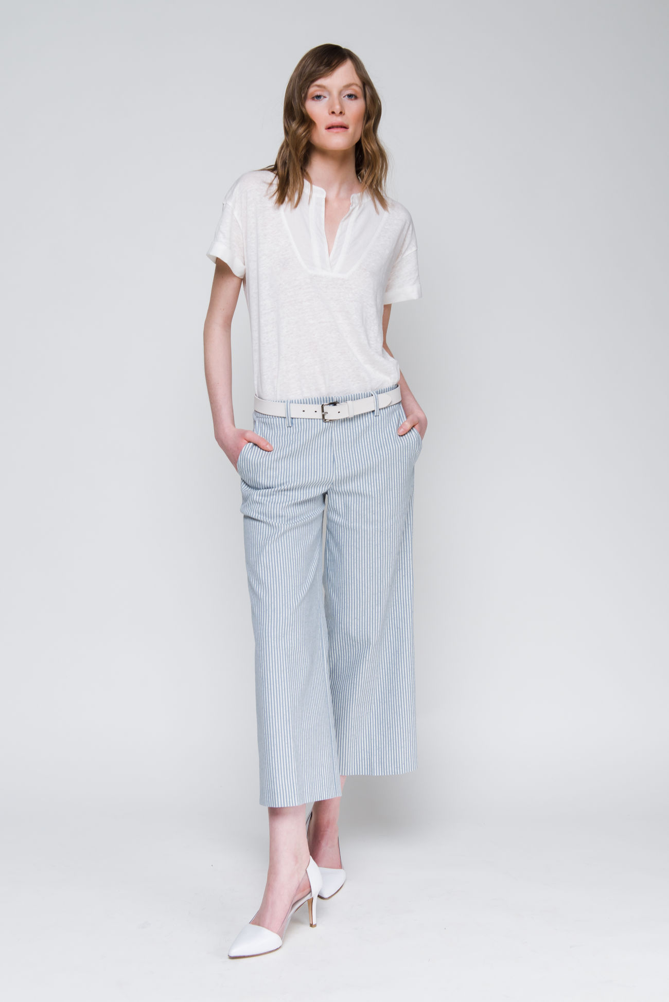 ¾ pants in cotton-mix