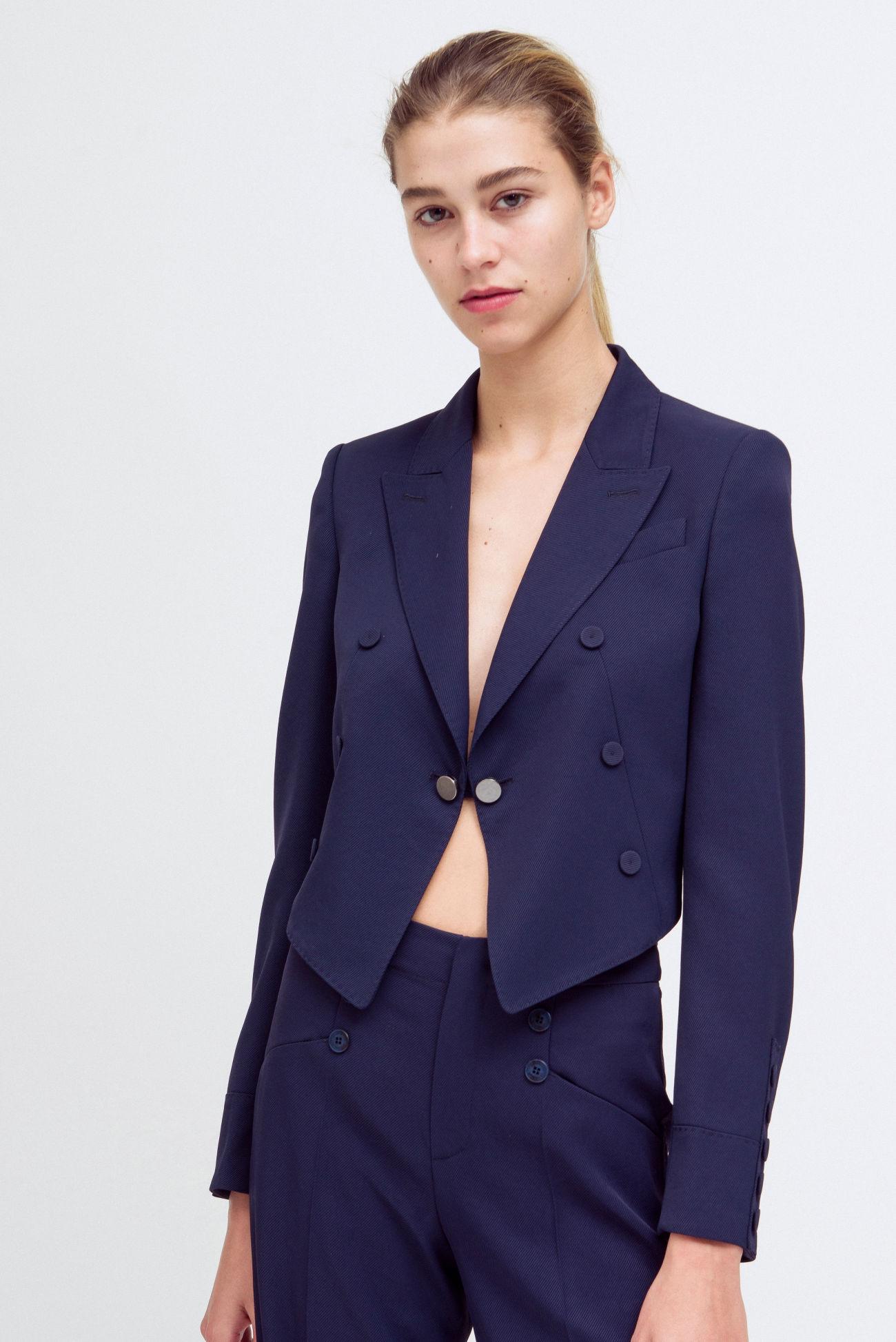 Short blazer in sailor jacket look