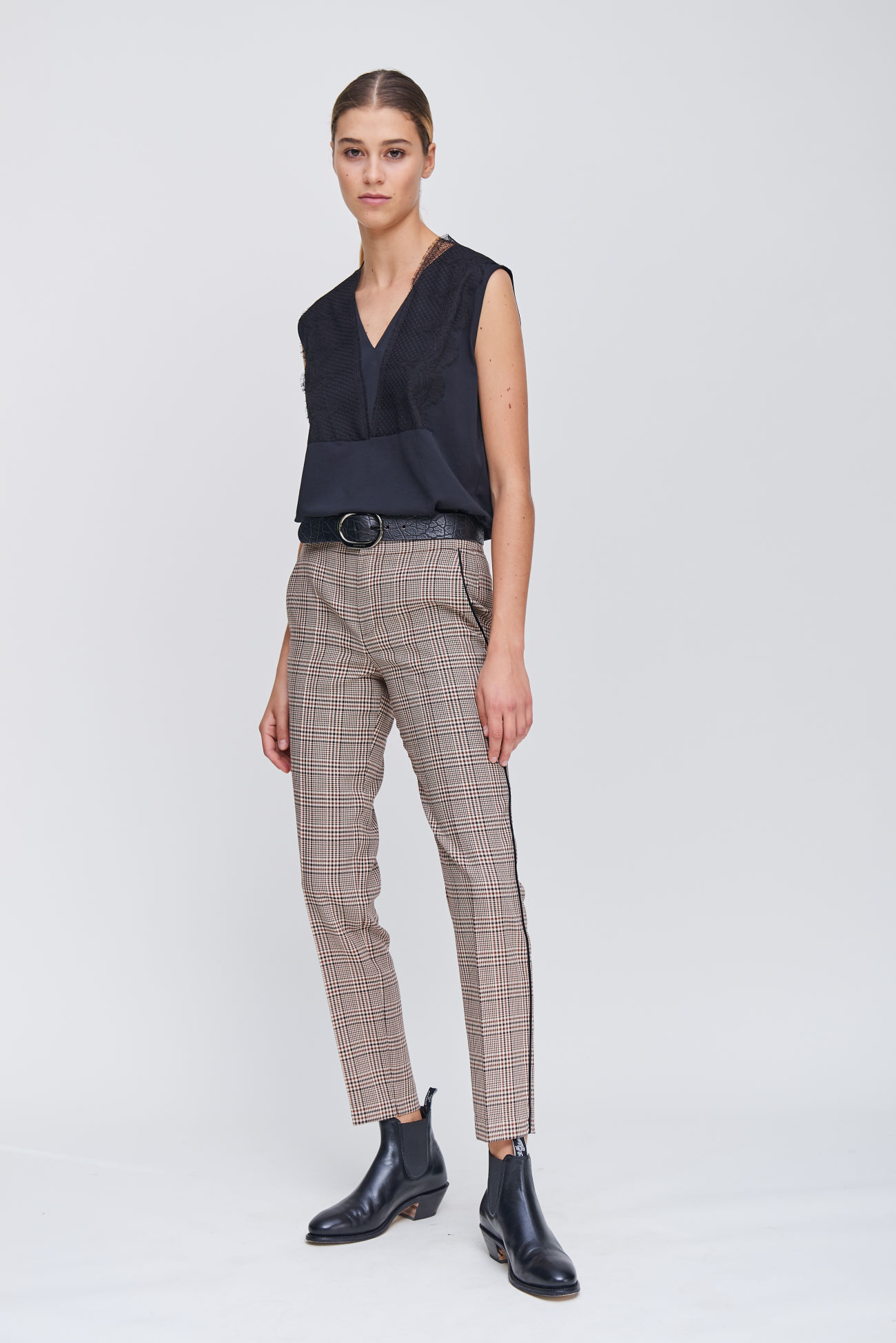Glencheck trousers