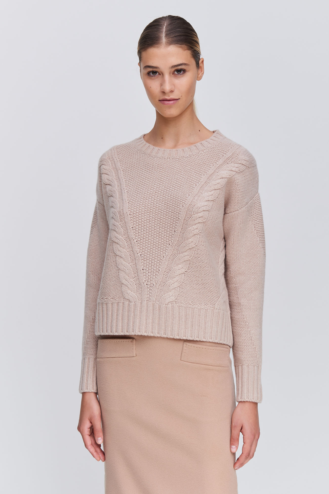 Sweater with knitted pattern