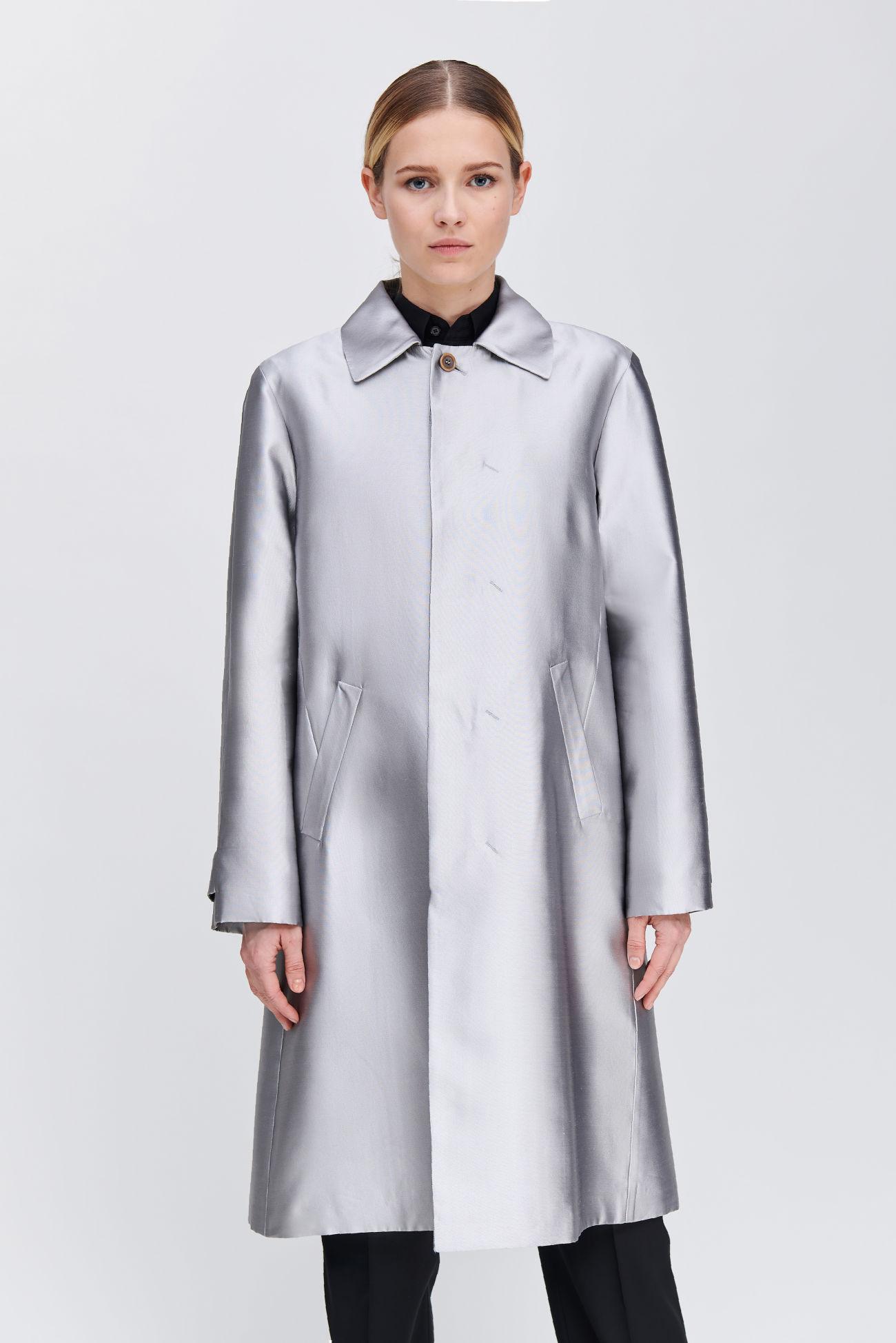 Mantel aus Seiden Mikado