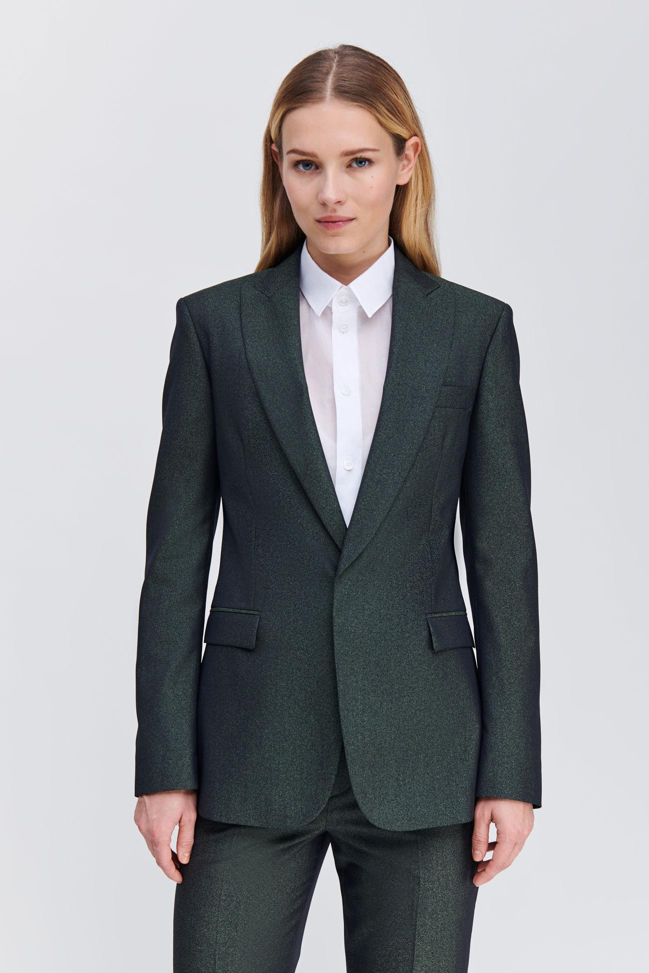 Fitted short blazer