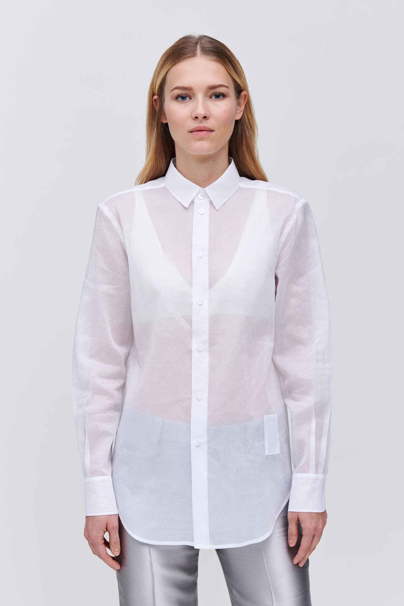 Semi-transparent shirt blouse