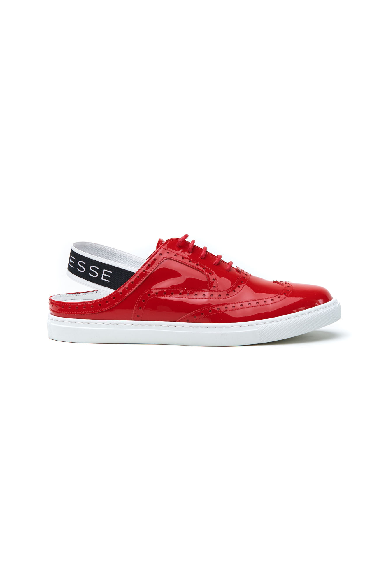 Sporty cut out patent leather sneaker Anouk