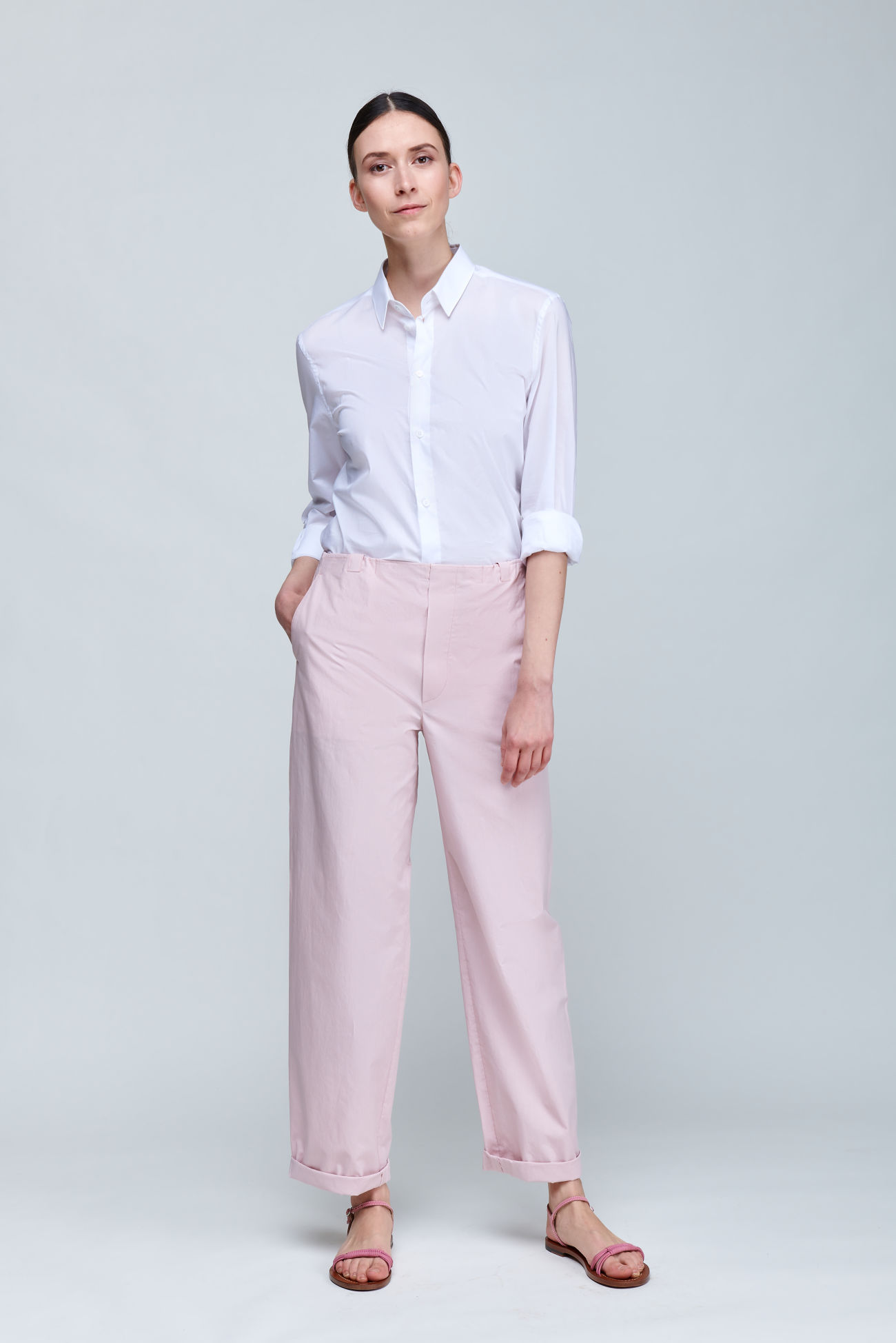 Wide leg trousers in summery cotton