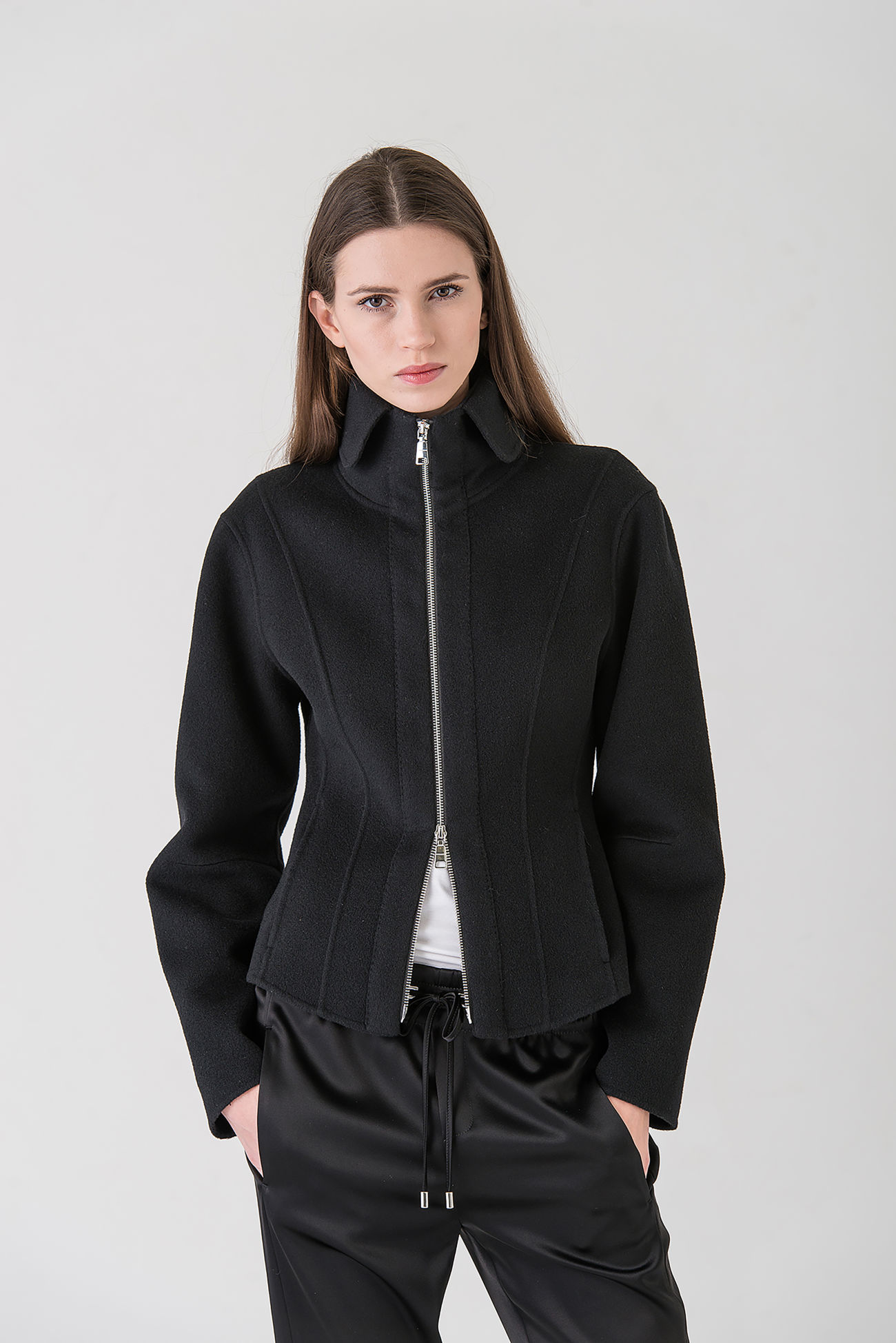 Jacket in double face wool-cashmere