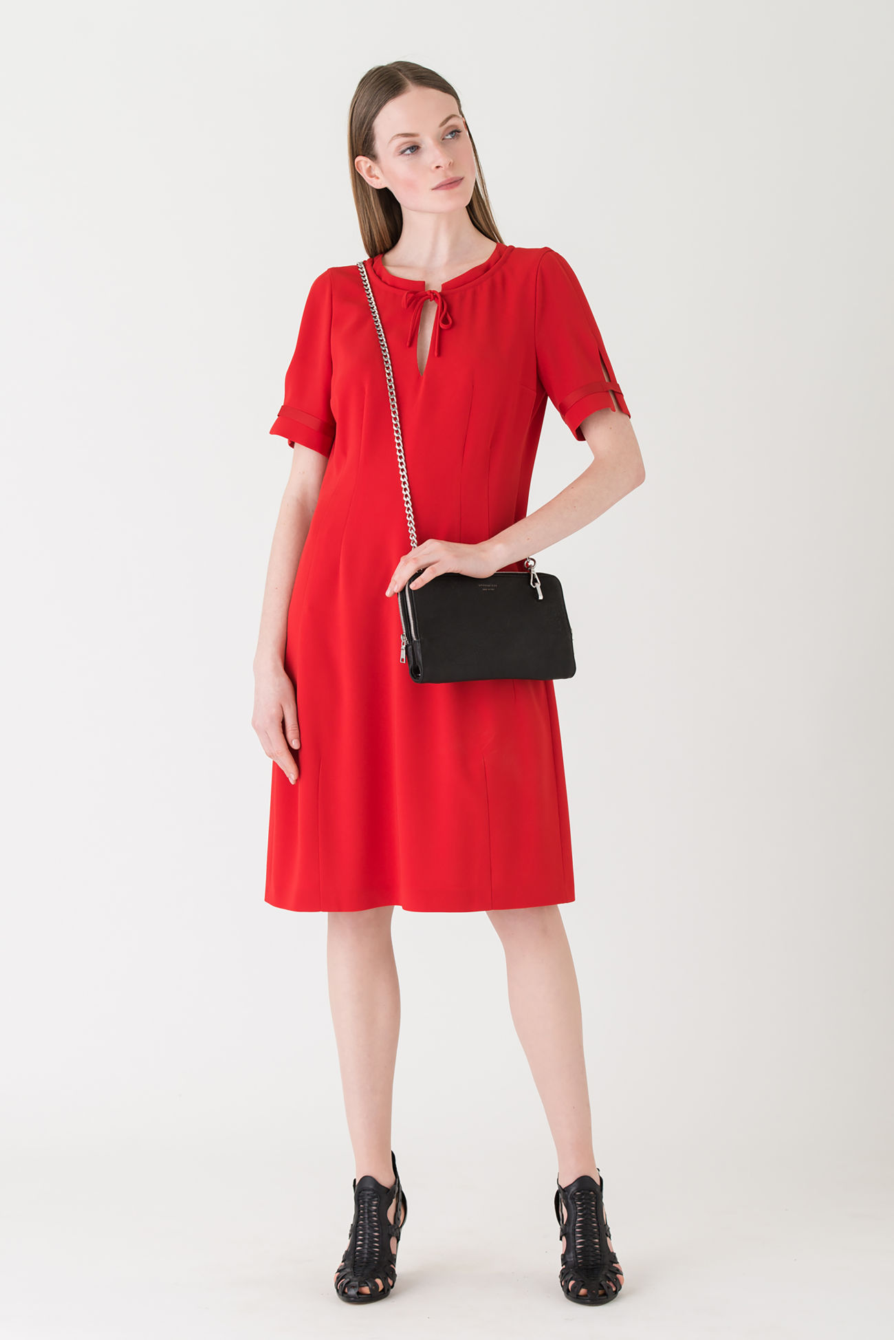 Uncomplicated all-round dress made of flowing crêpe