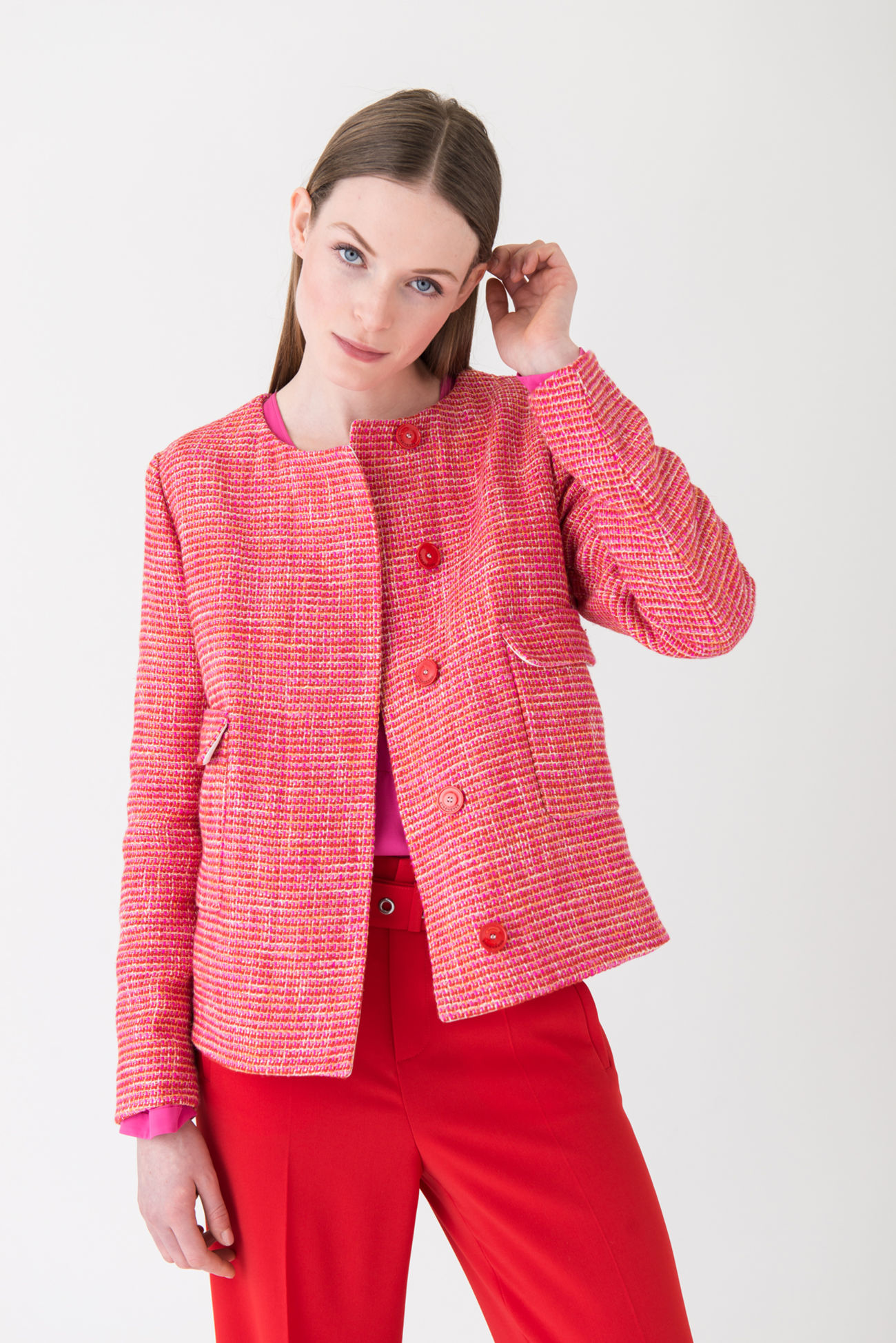 Lightweight tweed jacket in exquisite colours