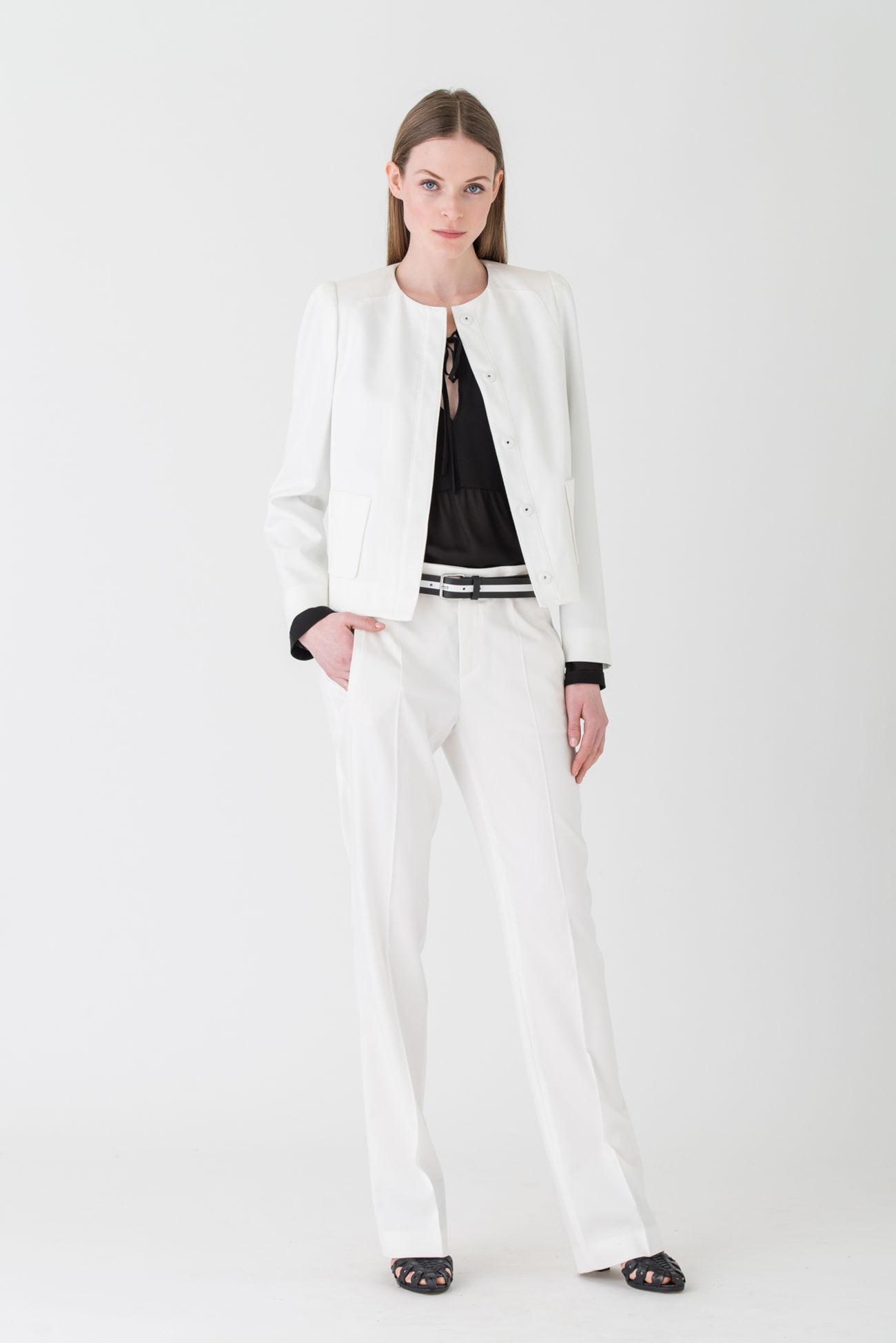 Trendige Anzughose aus Stretch- Gabardine