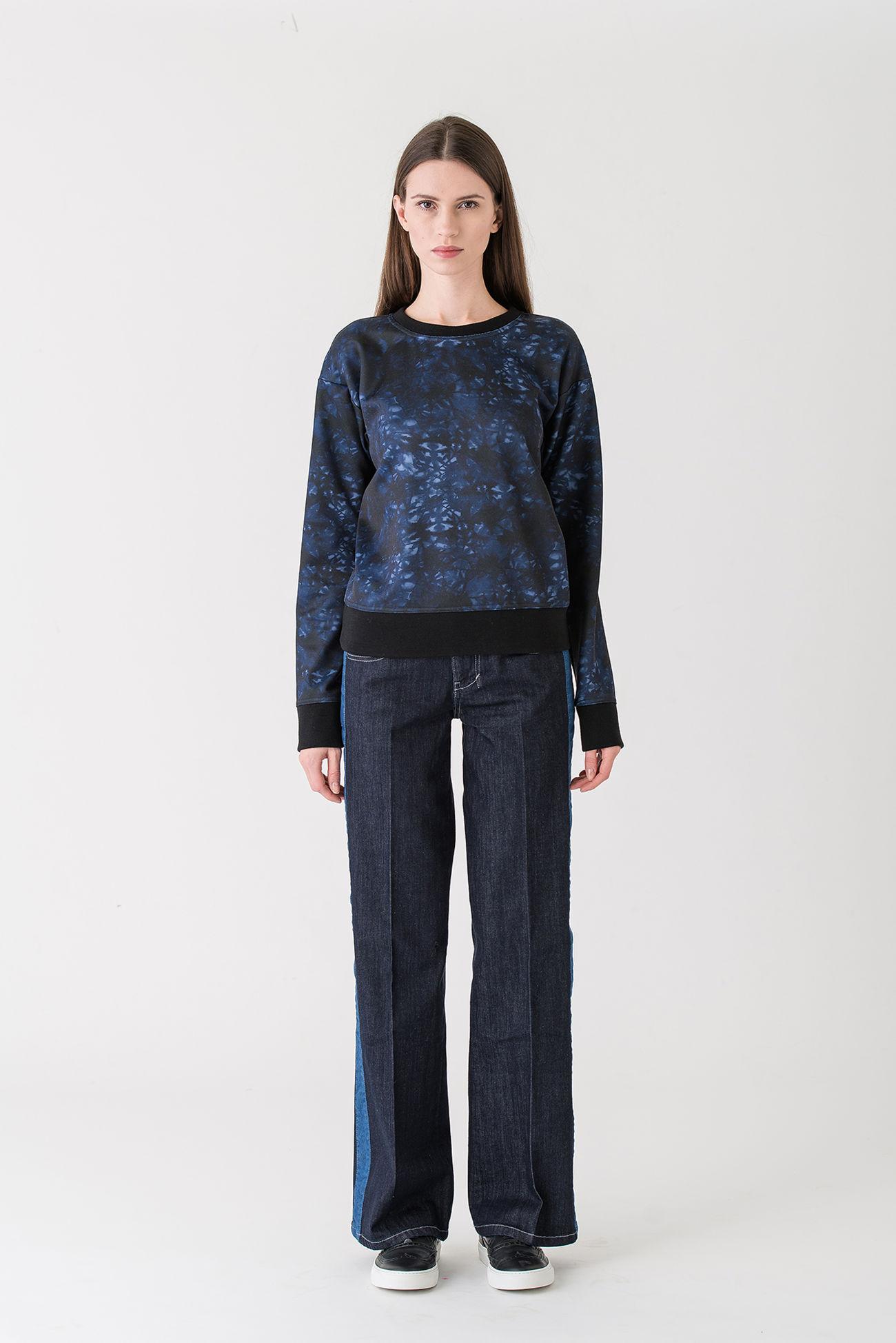 Trendsichere Jeans aus blauem Denim.