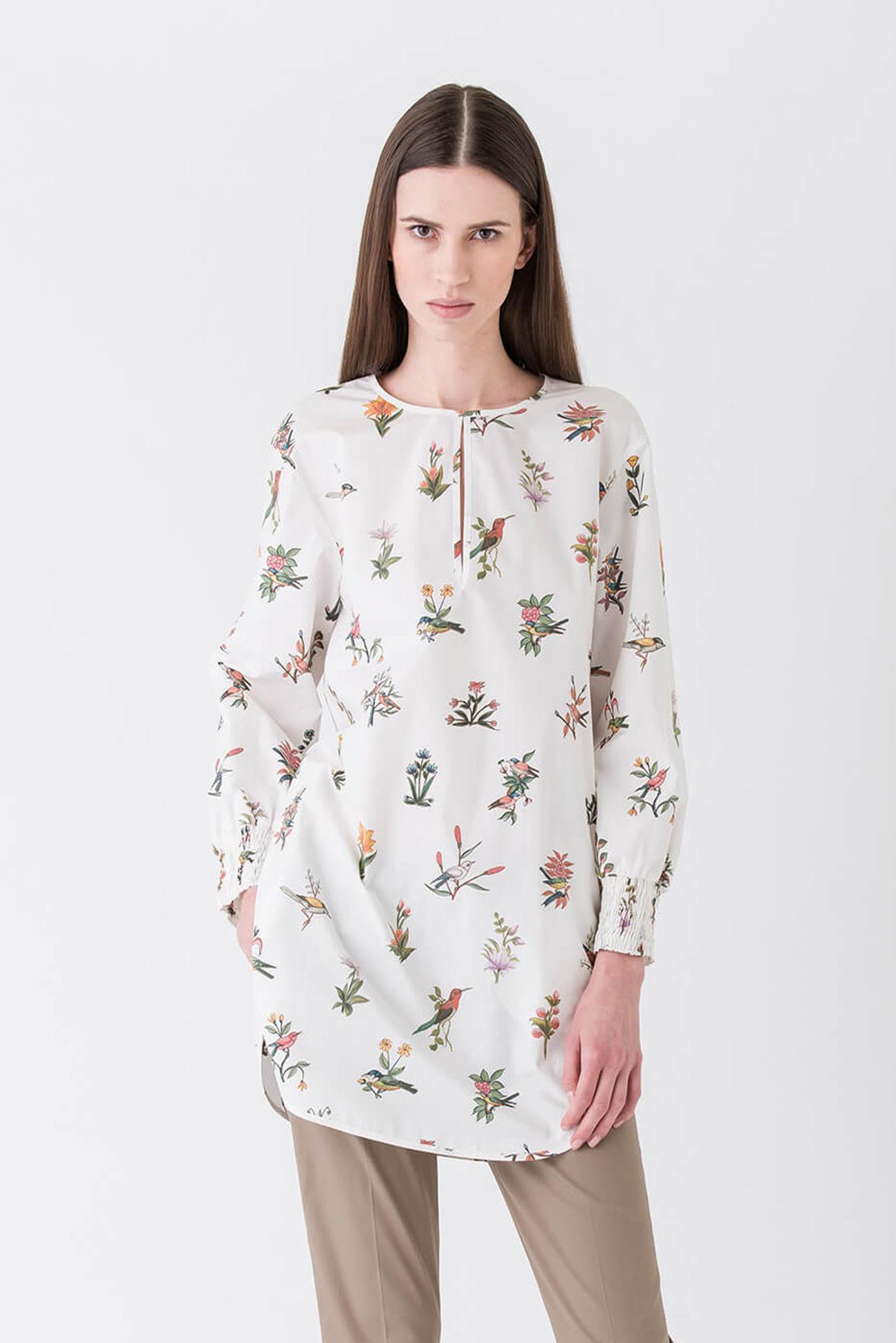 Sommerliche Boho Long-Bluse im Tunika-Stil