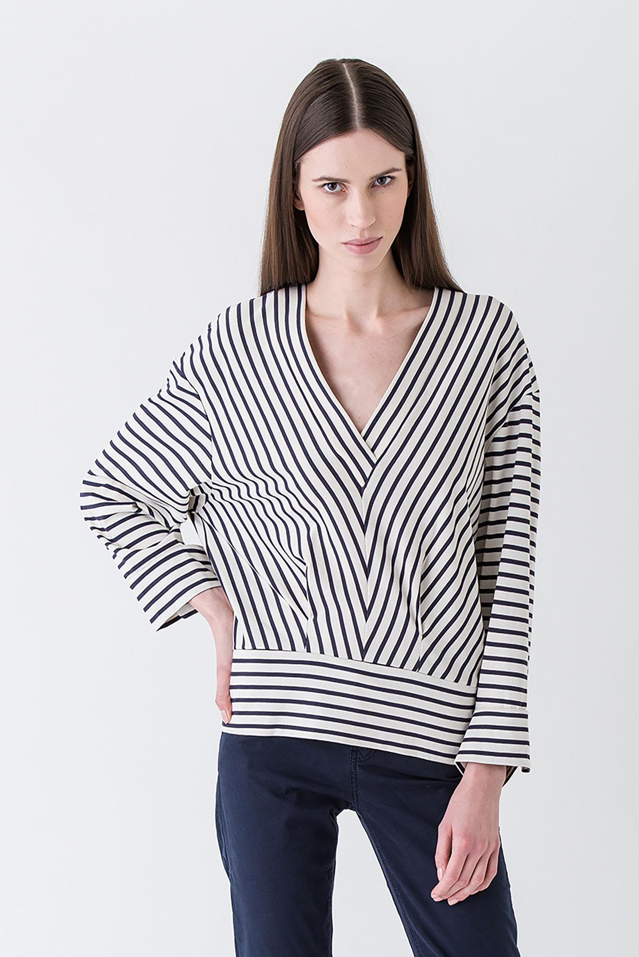 Flashy Streifen- Shirt aus Baumwoll- Jersey