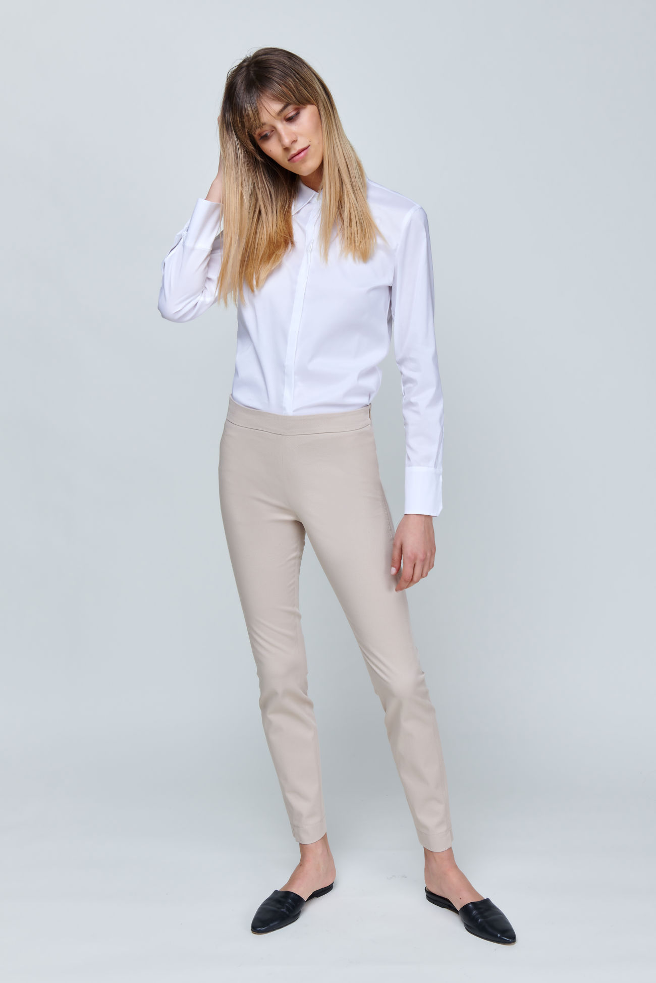 Slim-Fit Hose aus Gabardine Stretch