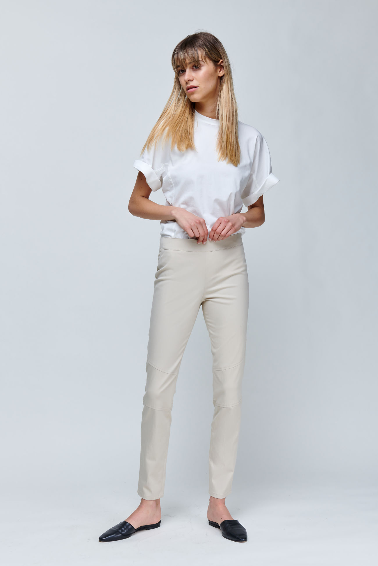 Slim-Fit Hose aus softem Gabardine Stretch
