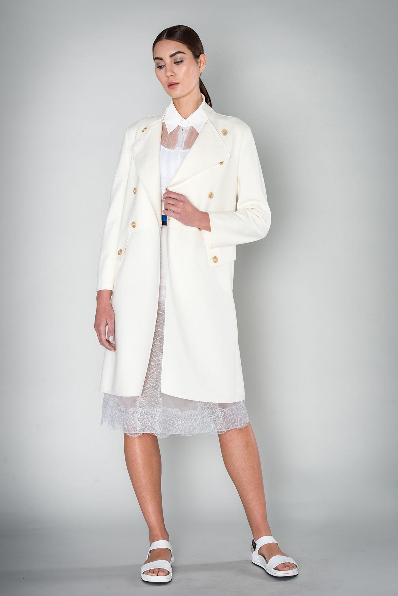 Mantel aus boilt summer wool