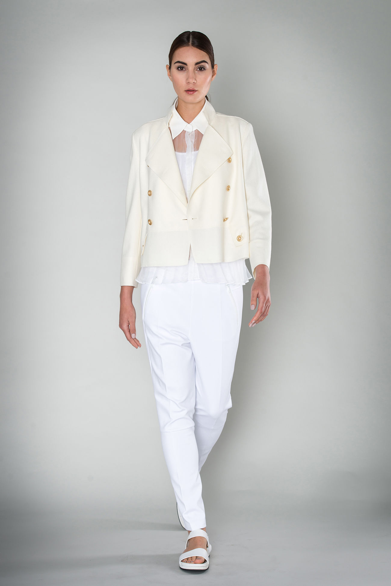 Caban Jacke aus boilt summer wool