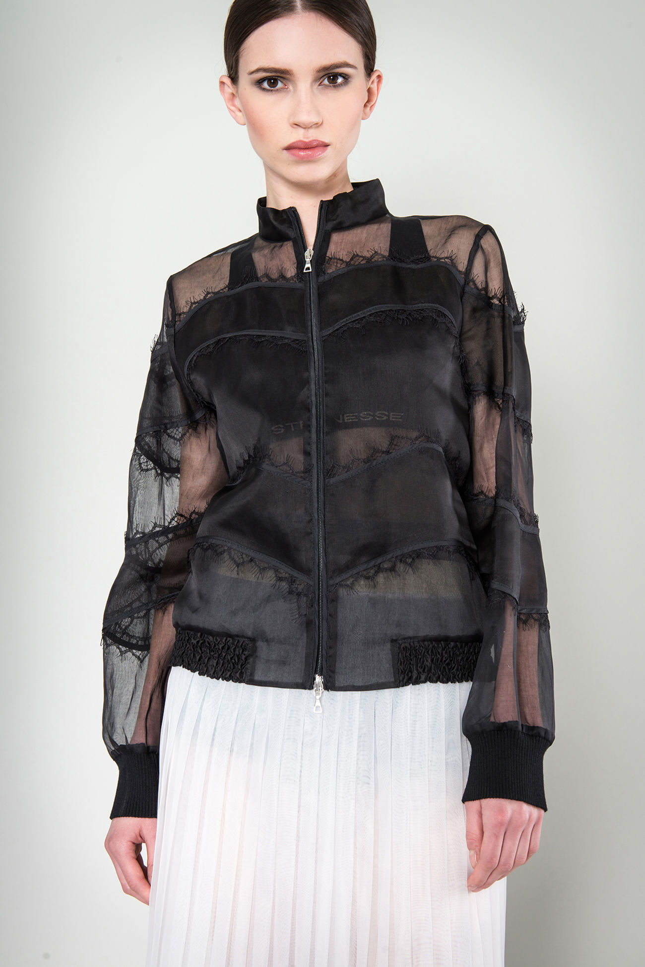 Blouson made of cotton organza