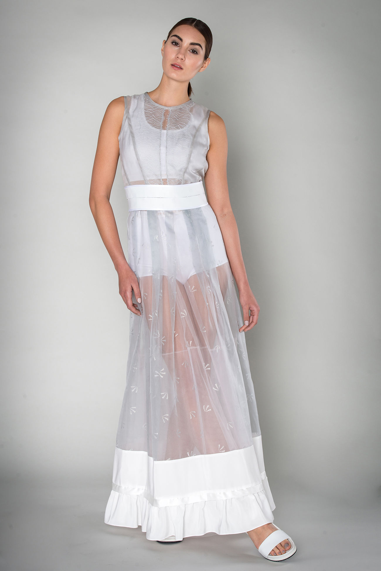 Dress made of silk organza