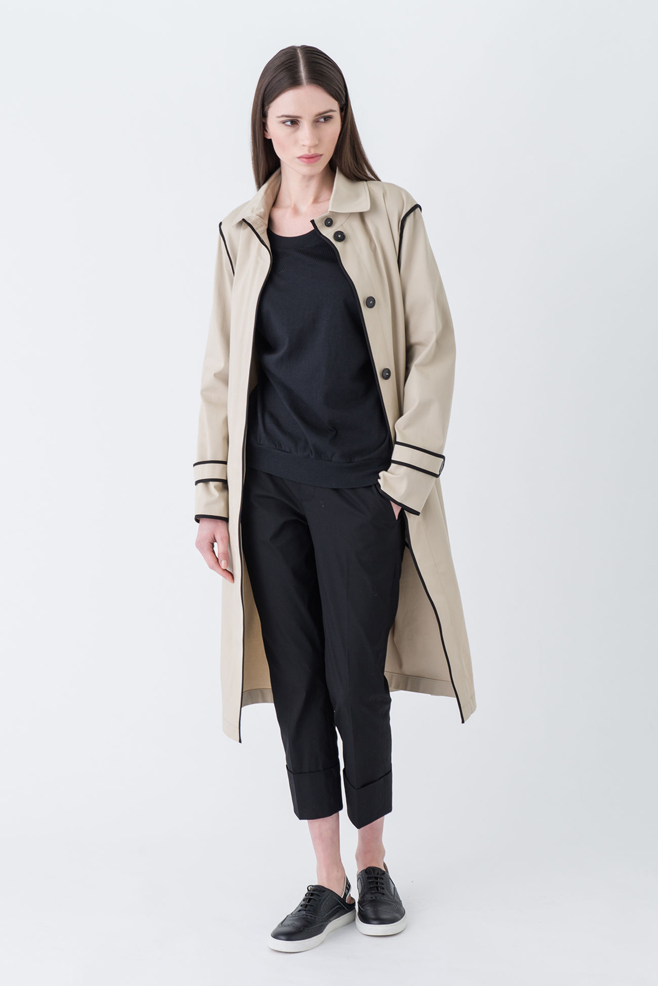 Luxurious summer coat made of fine cotton gabardine