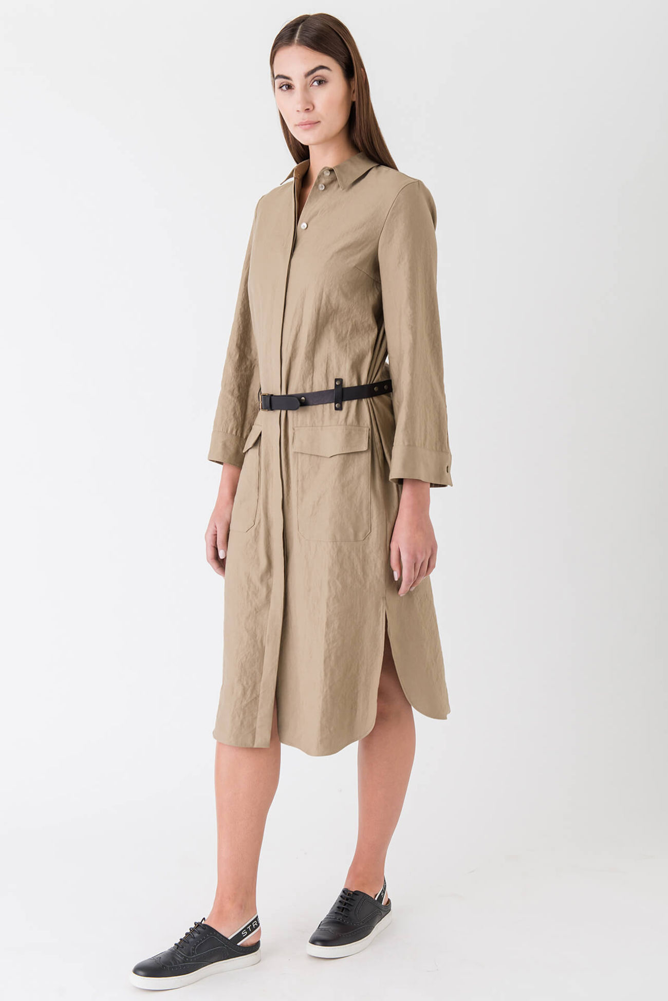 Flamboyant shirtdress made of a linen blend