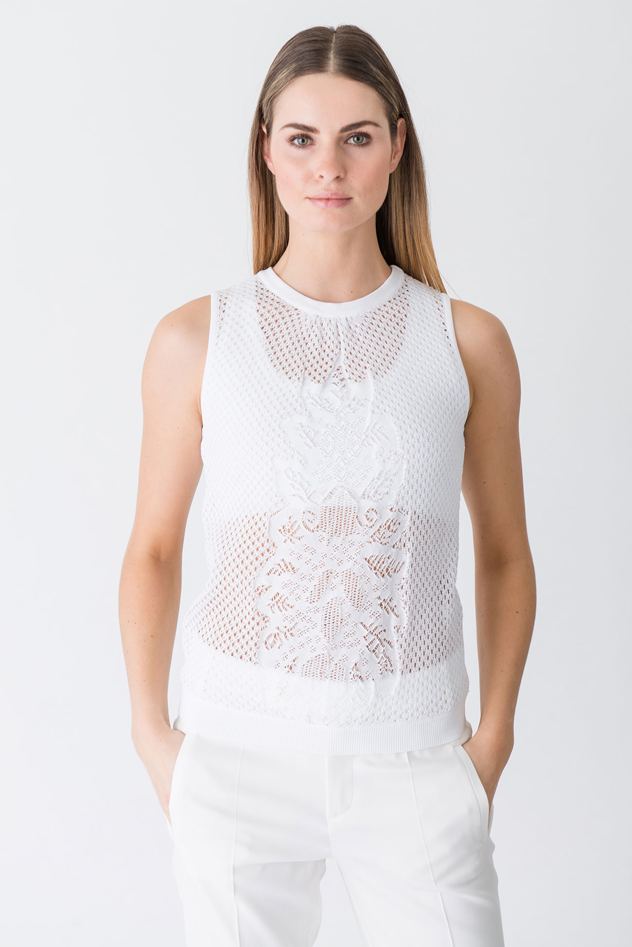 Casual tank top made of lightweight cotton knit