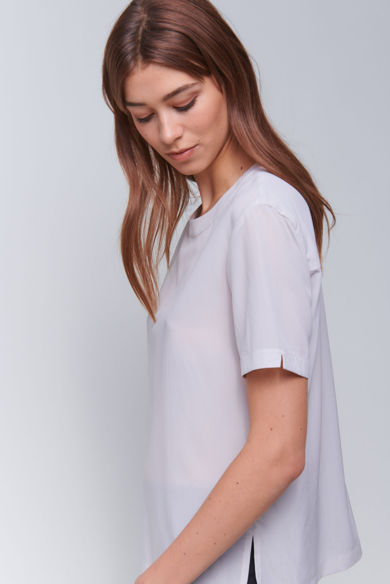 Modern T-shirt made of washed silk