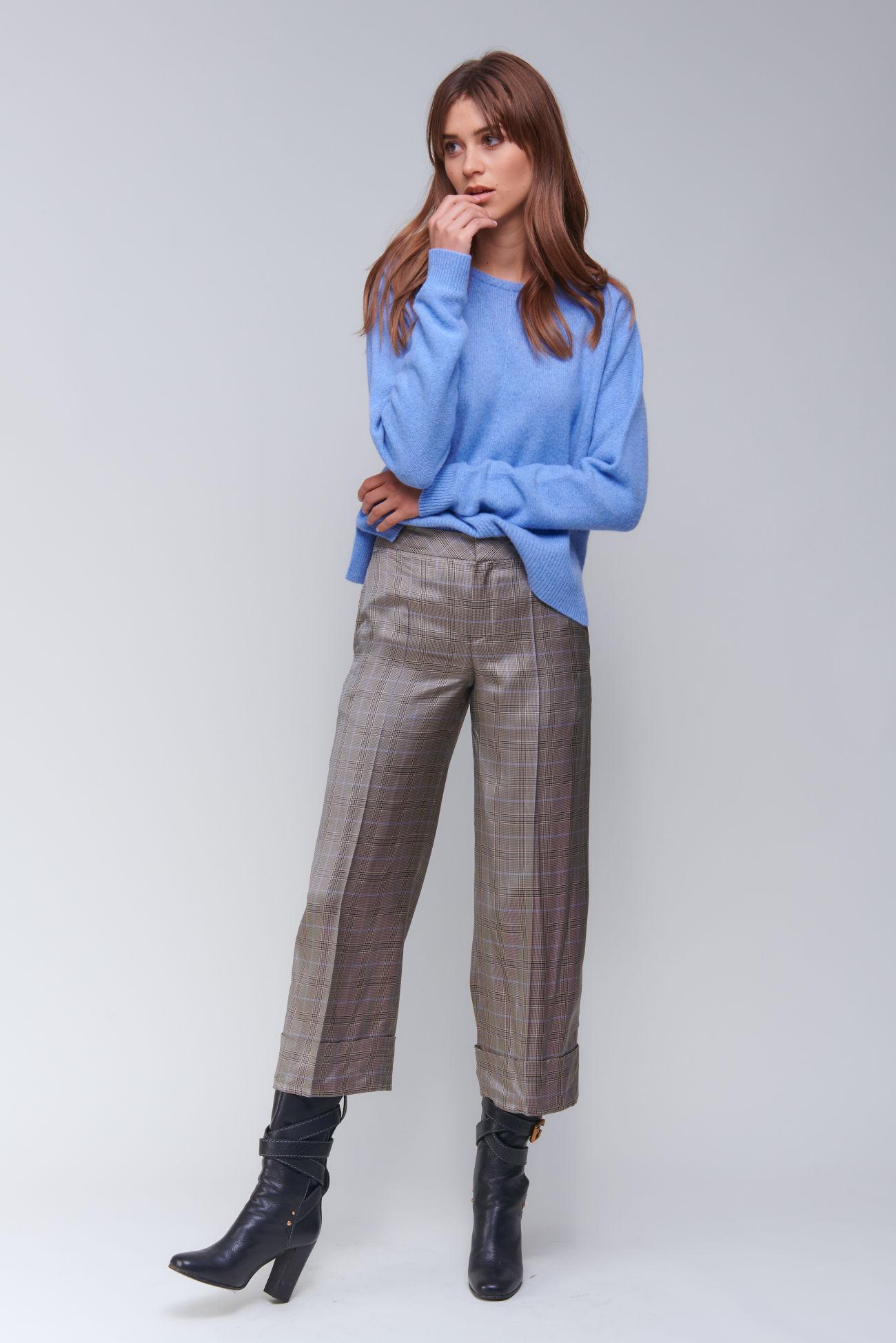 Culotte trousers in Glencheck design