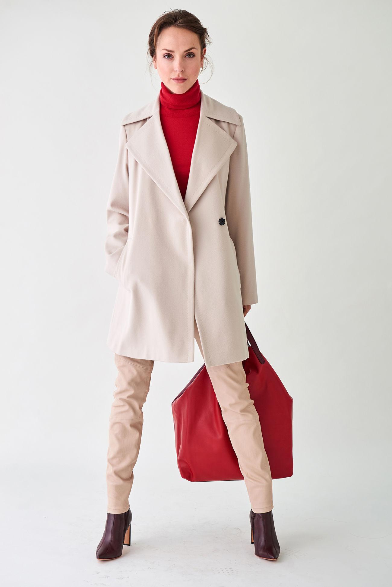 Eleganter Mantel aus italienischer Schurwolle