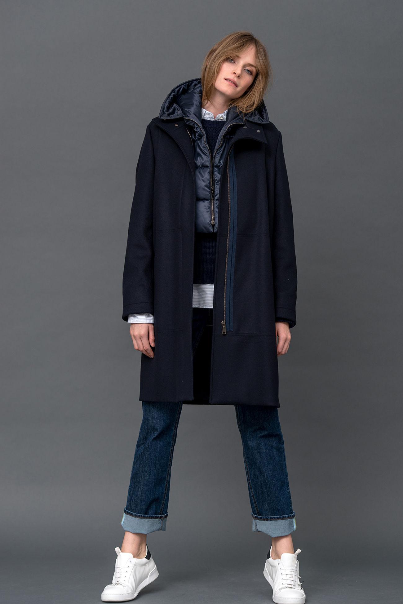 2-in-1 Mantel aus Schurwolle