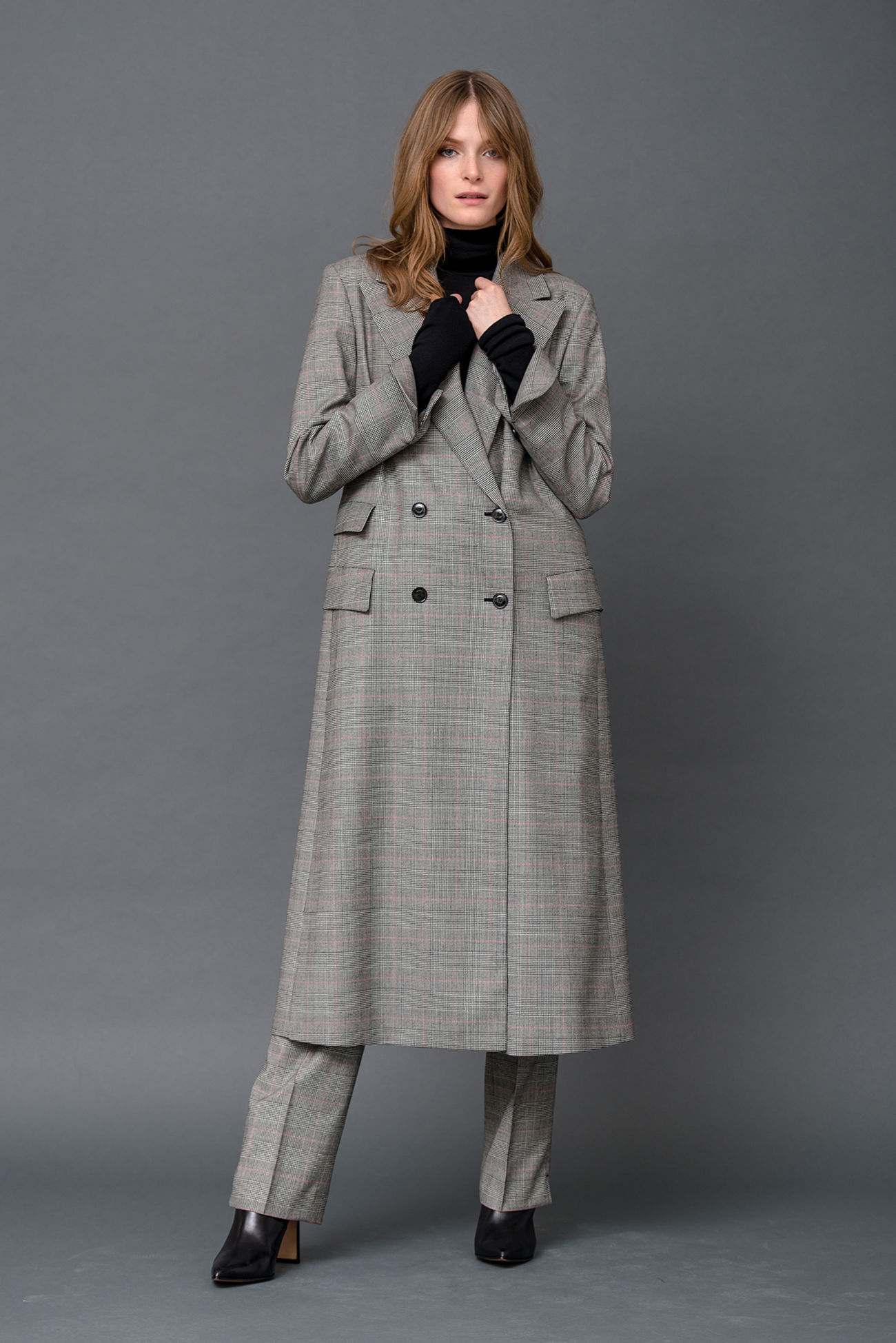 Mantel in angesagtem Glencheck