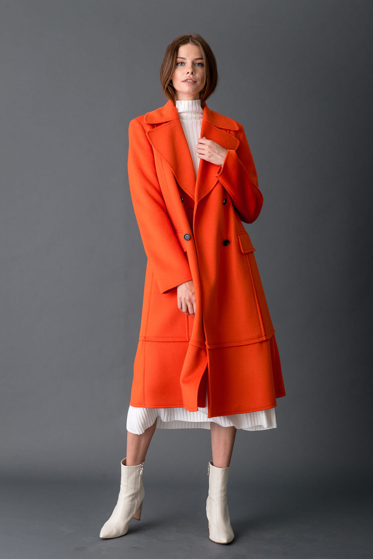 Coat made of luxurious wool doubleface