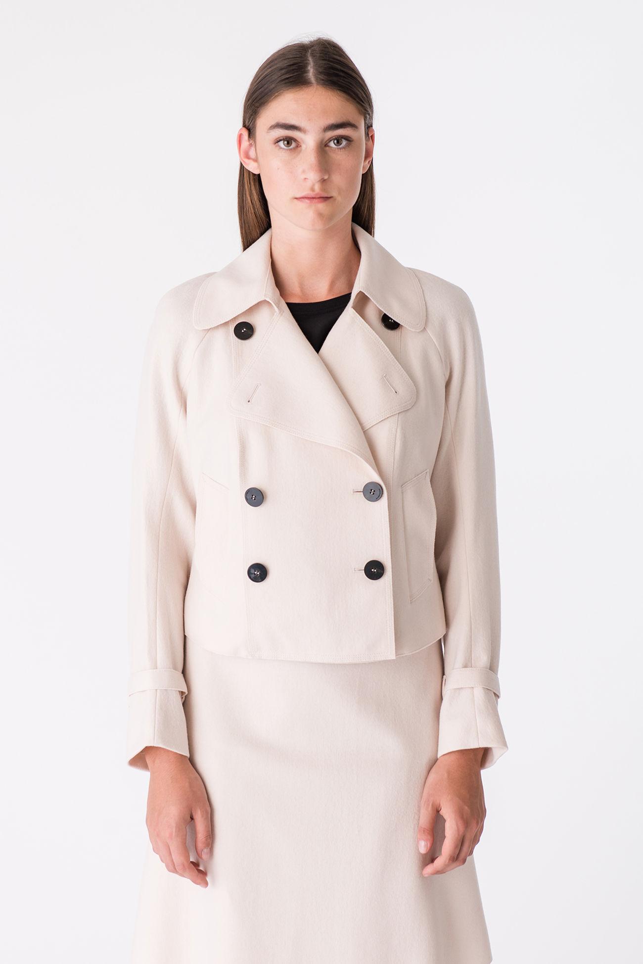 Waist-length wool jacket in a sailor style
