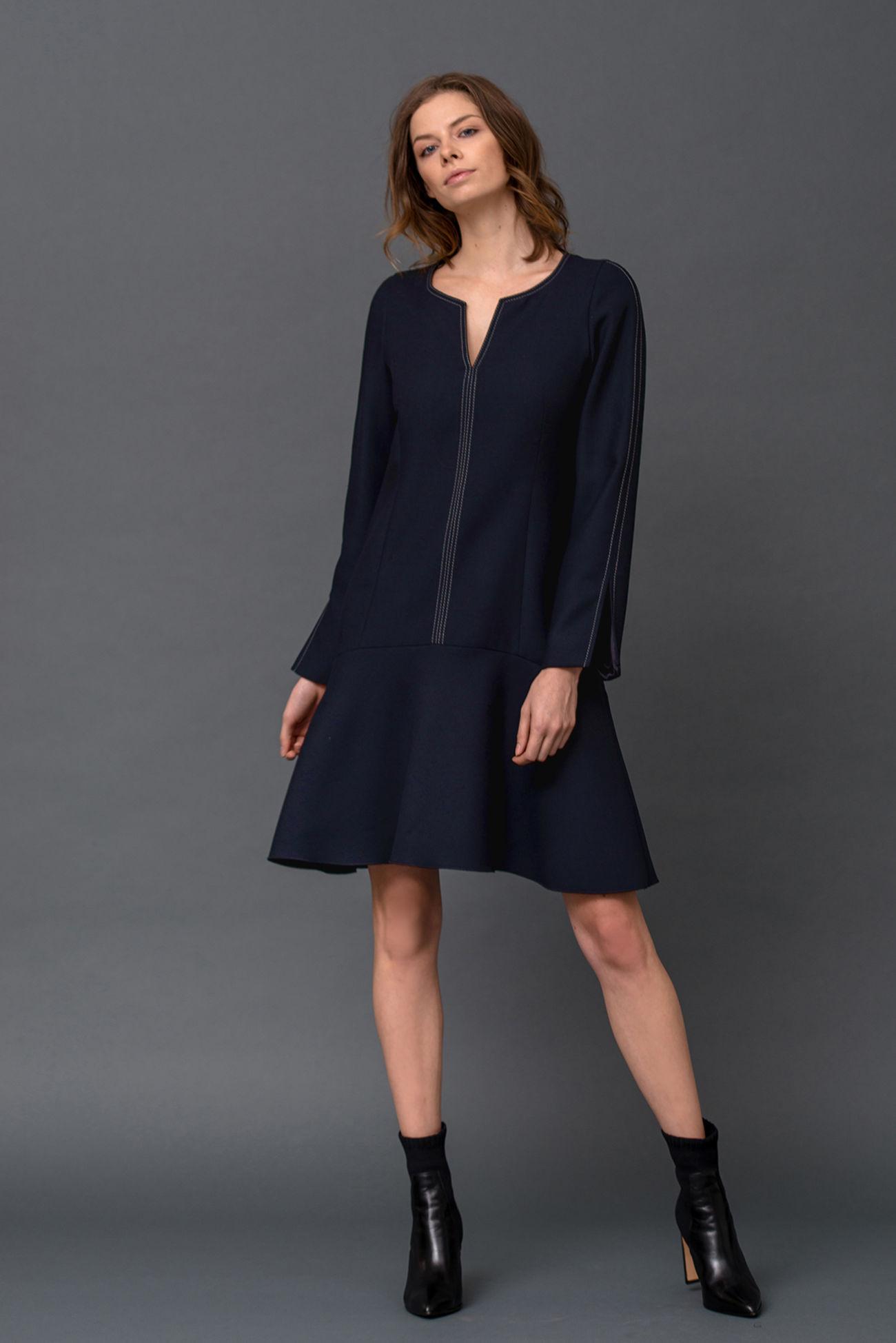 Kleid aus Double-Crêpe