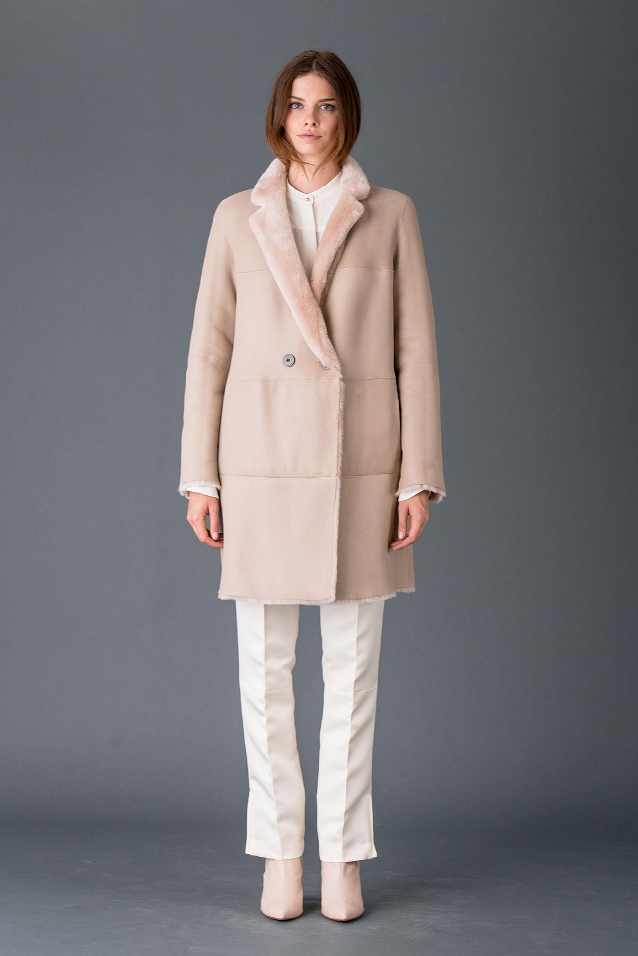 Wendbarer Mantel aus feinem Lamm