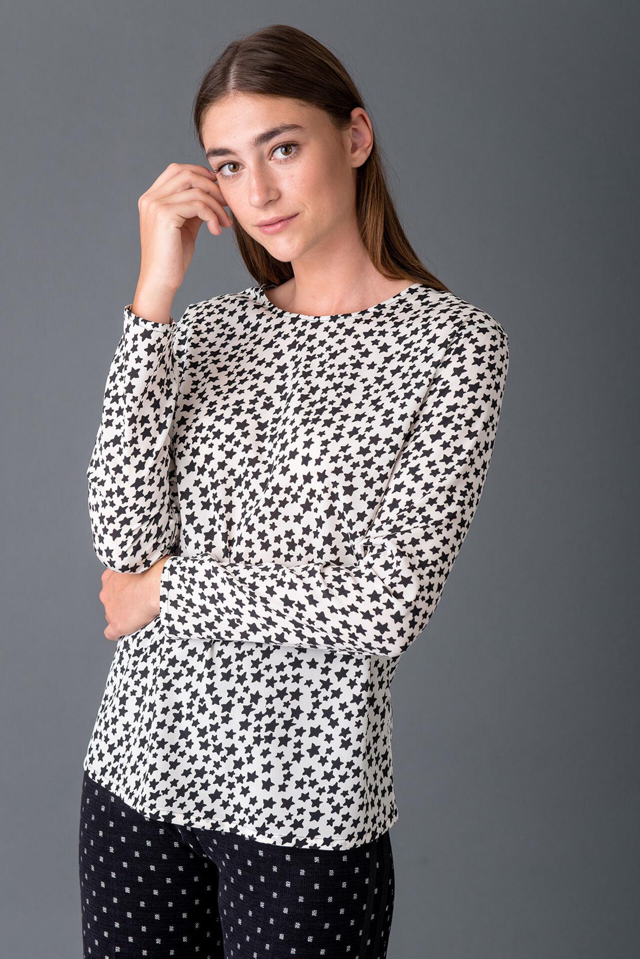 Elegant blouse in crêpe de chine