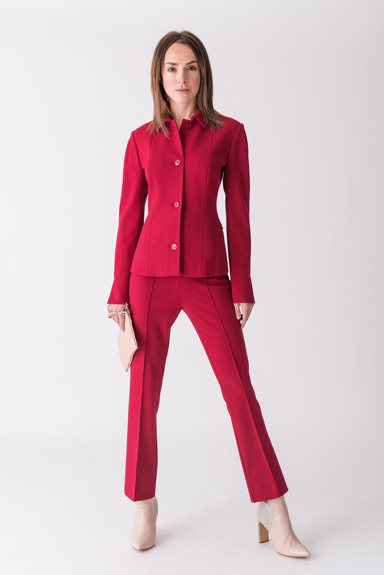 Boot-Cut Hose aus Punto Milano Jersey