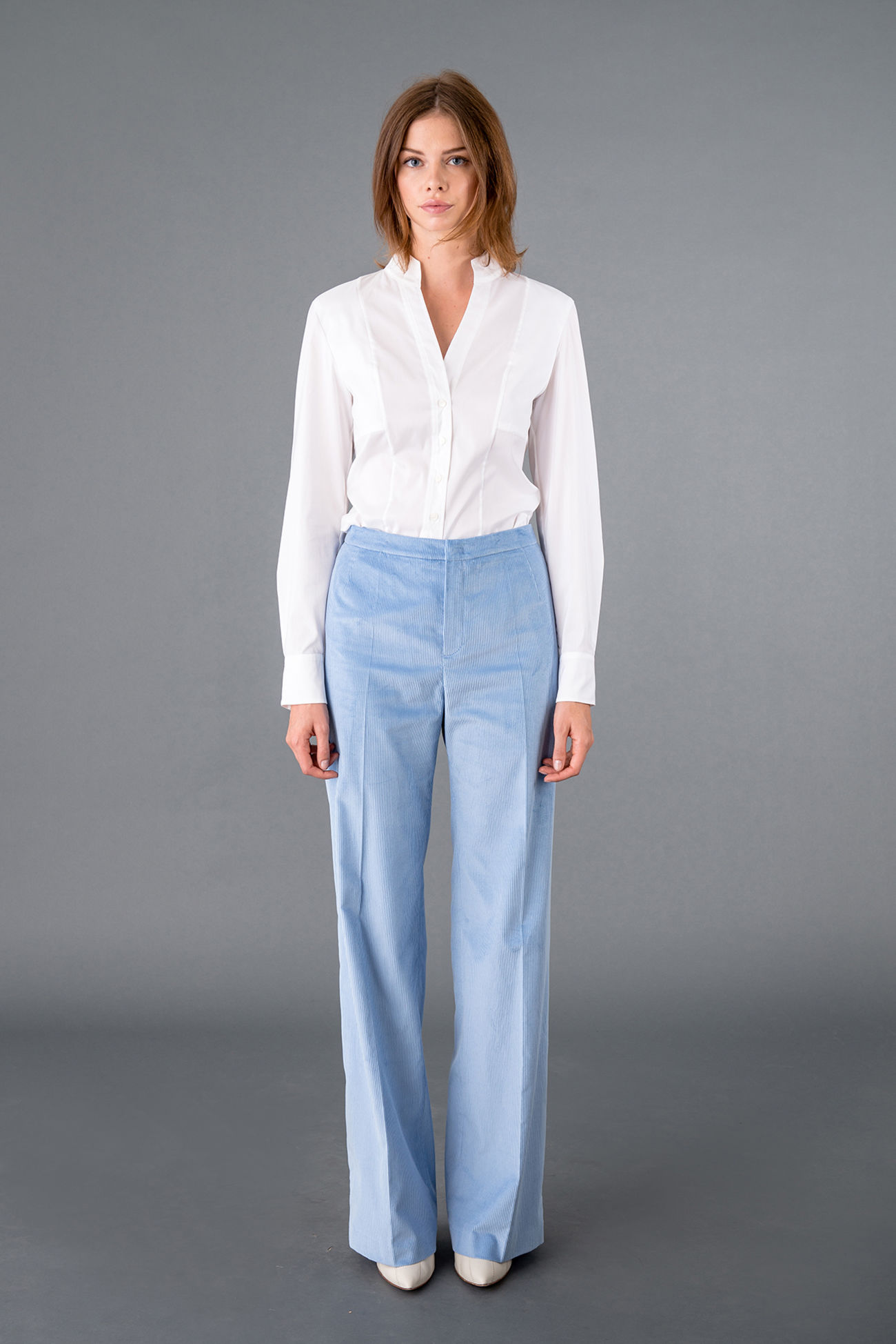 Suit trousers in trendy cord