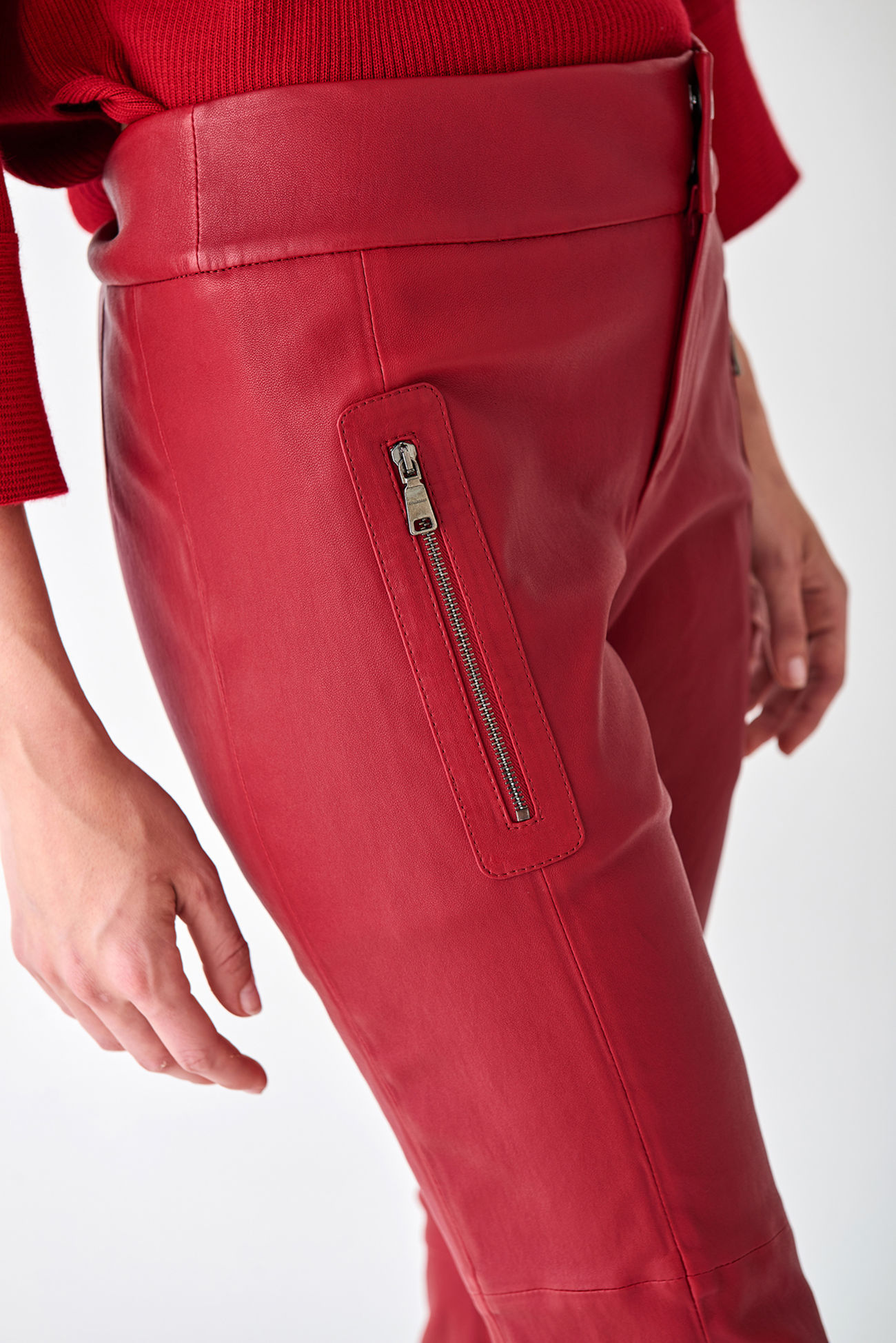 Classy trousers made of stretch nappa leather