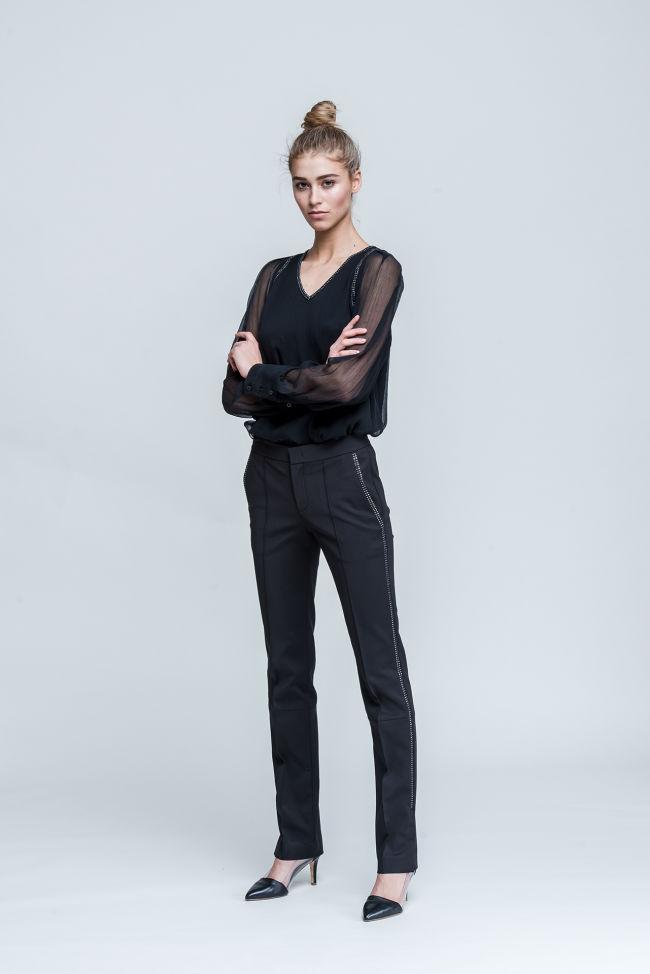 Pants in popelin-stretch